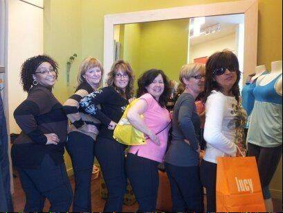 Salt Creek Park District's Mission Slimpossible and CellULaters teams took a field trip to Deer Park Town Center and tried on workout pants at the Lucy store. Team members include, from left, Verna Wright, Nancy Godfryt, Yvonne Shannahan, Kathy Kotrba, Glenda Kosulic and Lynn Brown.