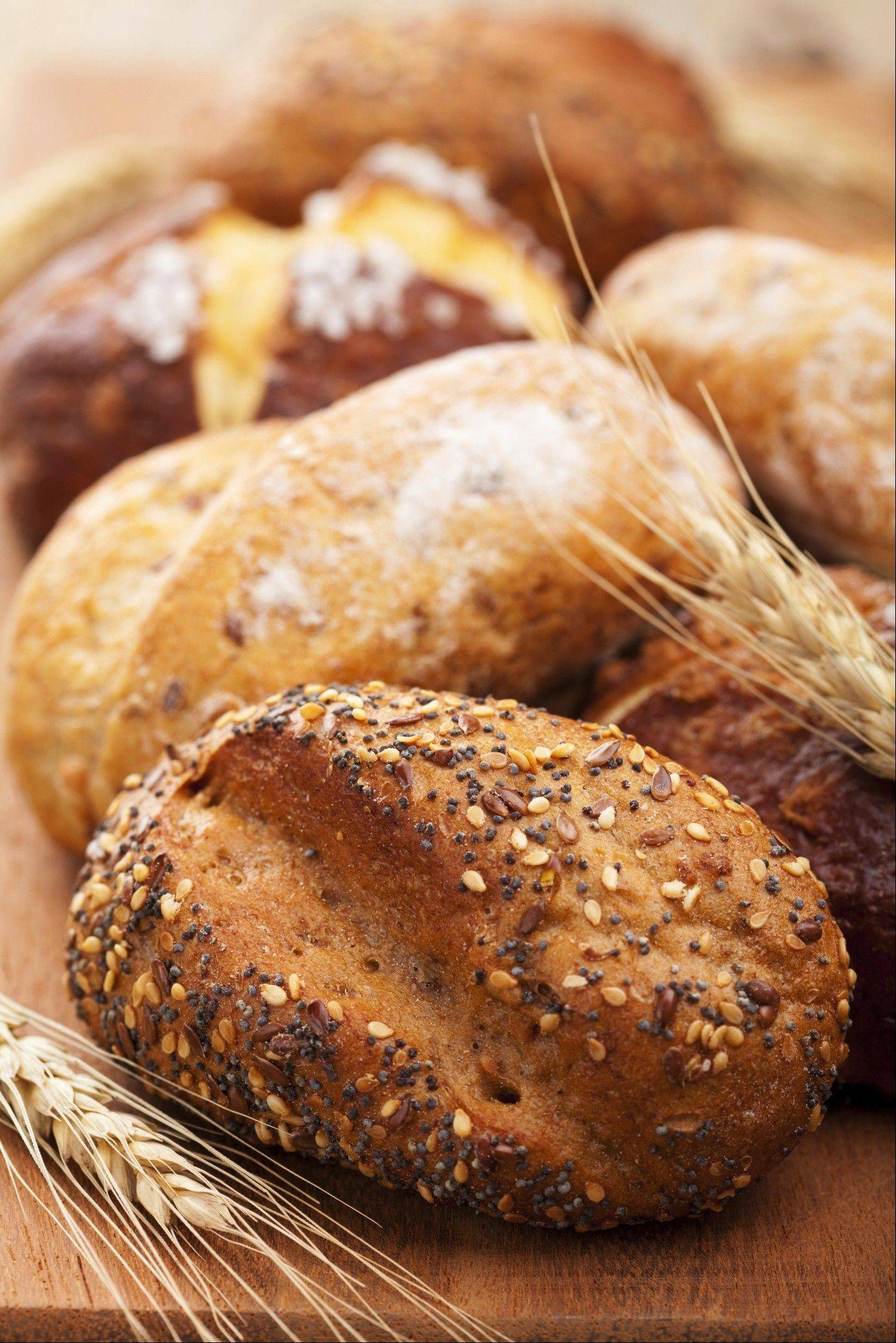 Whole-grain bread is a good choice when eating complex carbohydrates.