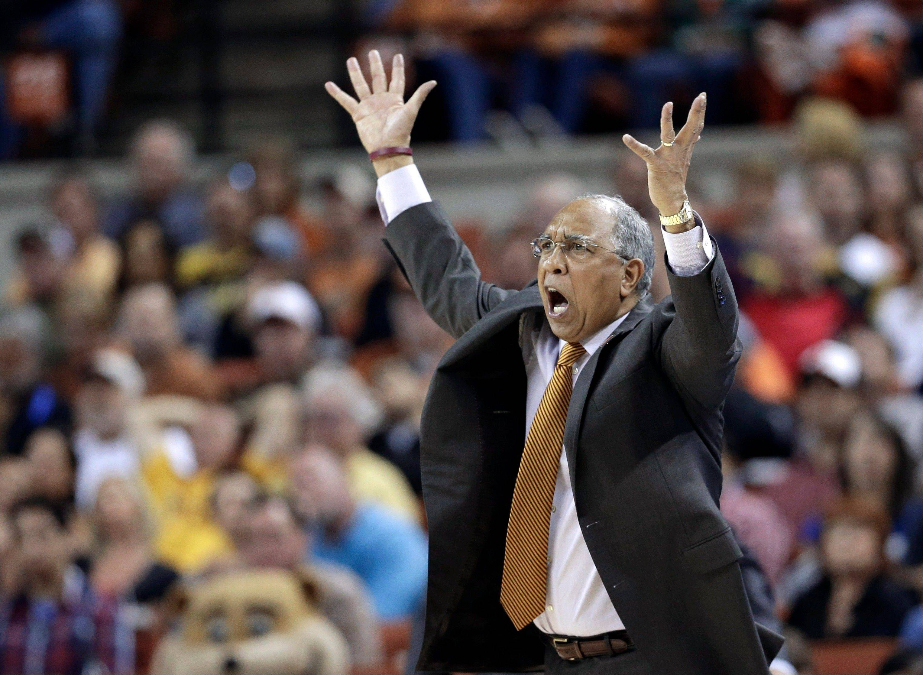 Minnesota coach Tubby Smith reacts to a foul call Sunday during the second half of a third-round game against Florida in the NCAA tournament in Austin, Texas. Florida defeated Minnesota 78-64.