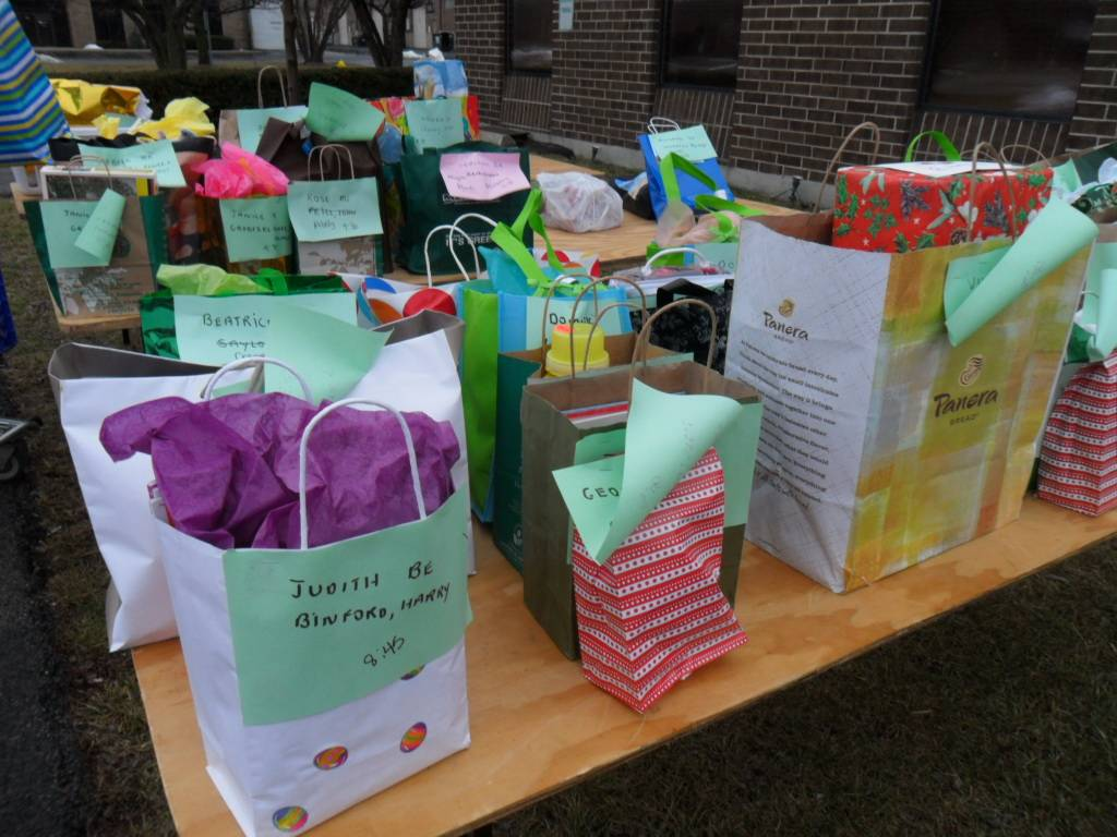Secret Pal gifts to be delivered to the needy seniors served by HSP.