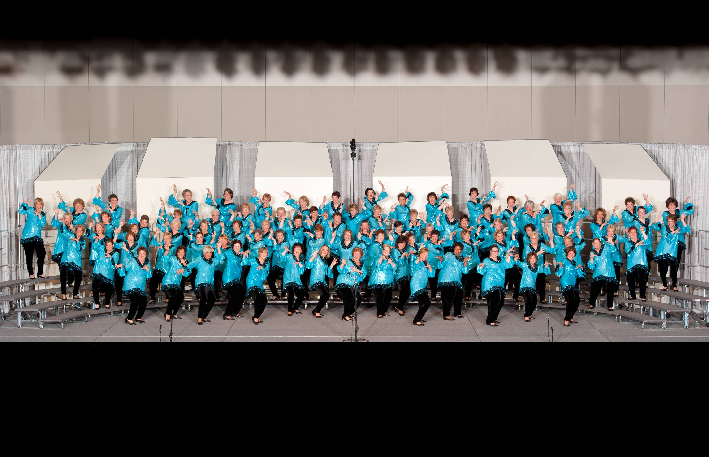 The Choral-Aires performs at the Sweet Adelines International Competition in Houston, Texas.