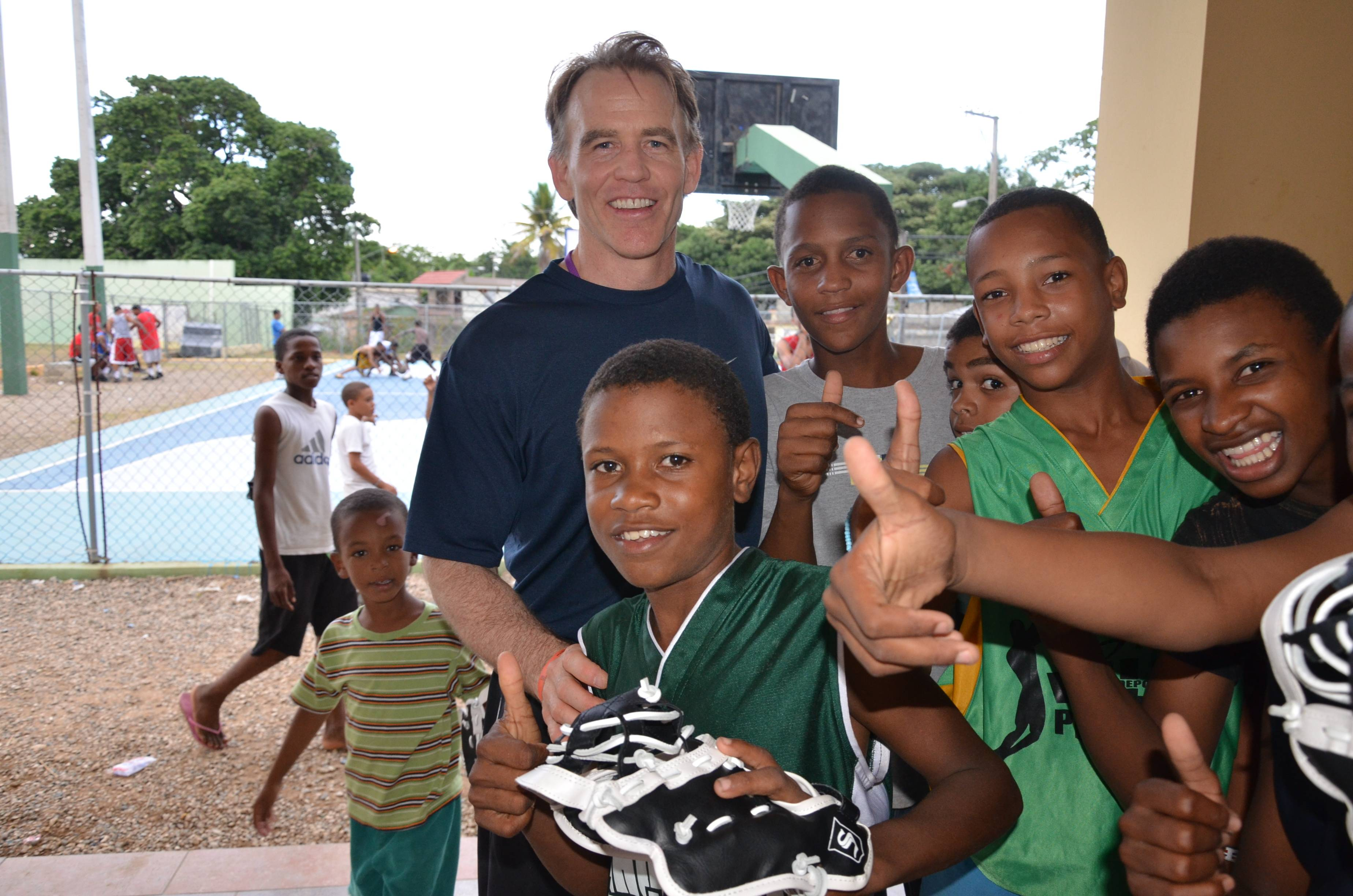 Gear for Goals' Founder & Director, Dr. Warren Bruhl brings baseball equipment and love of sports to children of the Dominican Republic.
