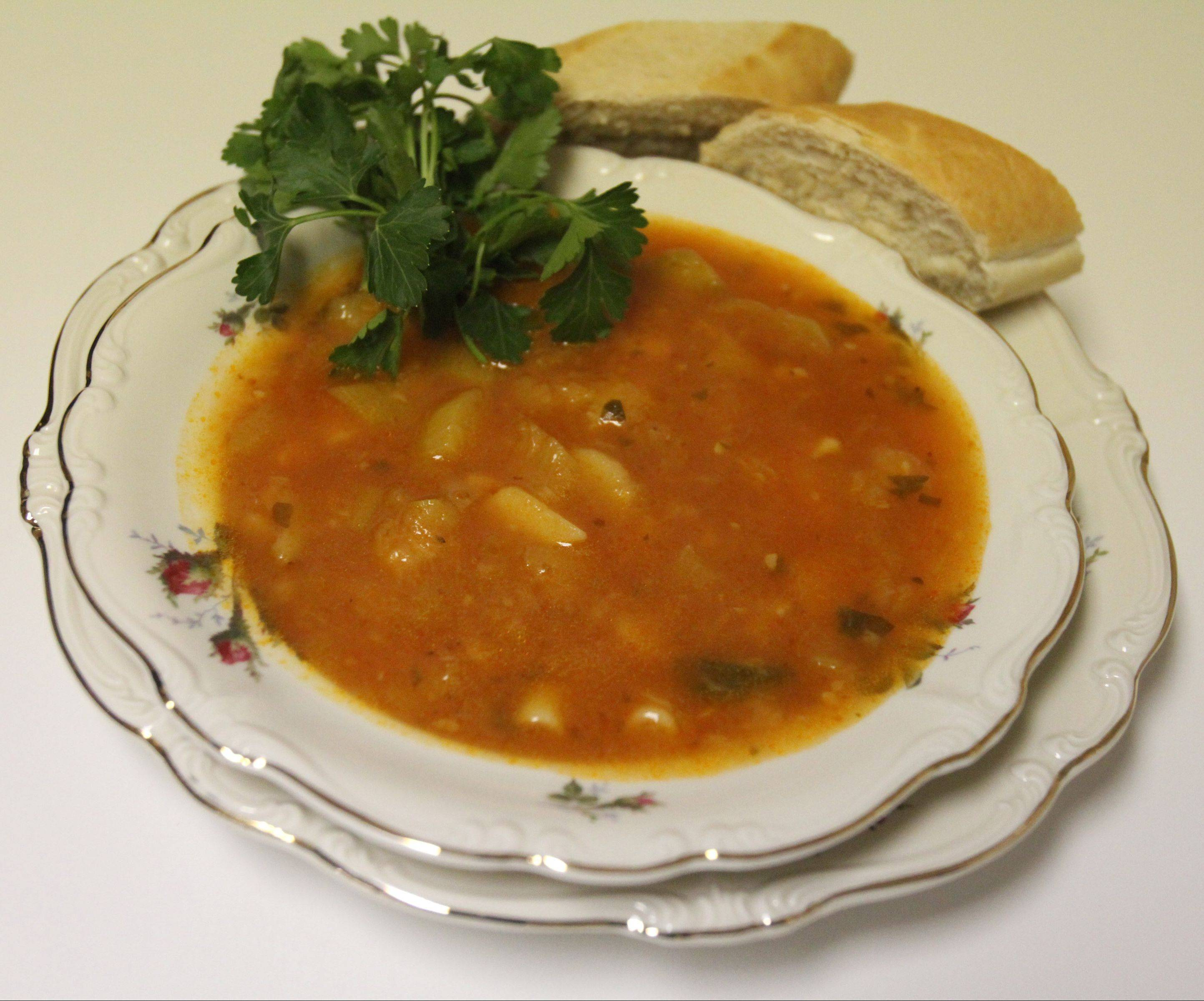 Soup chock full of zucchini, potatoes and herbs is one of Angie Gergen�s most beloved recipes.