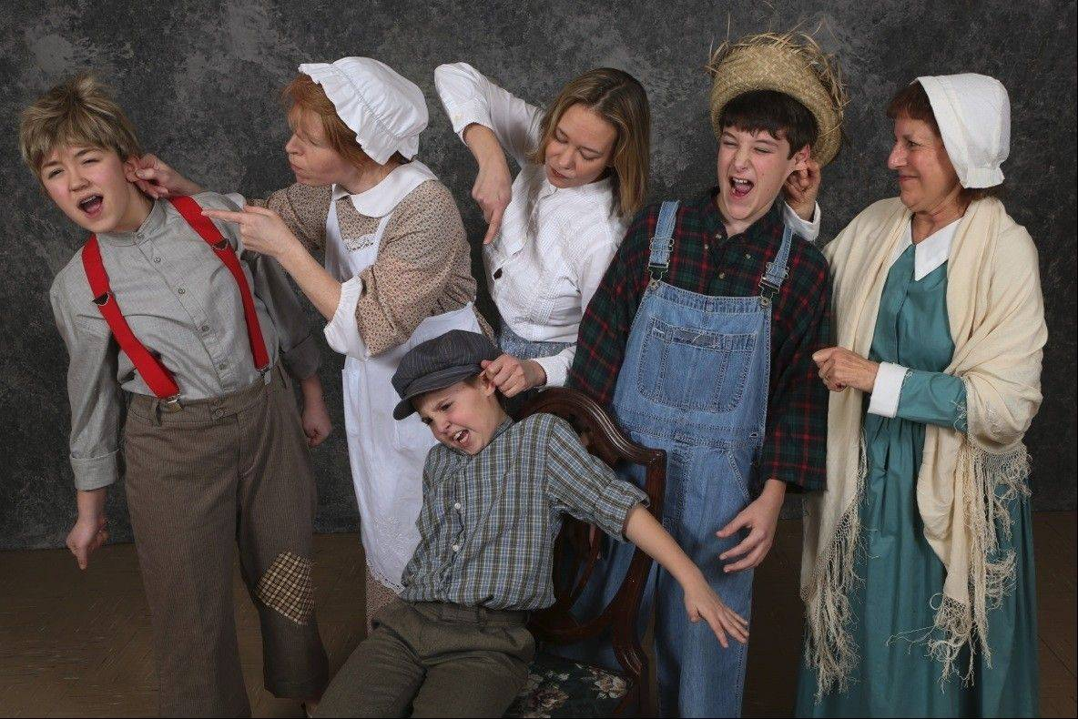 Cast members of the Kirk Players production of �Tom Sawyer.� Show times are at 7 p.m. Friday and Saturday, April 12 and 13, and 2 p.m. Saturday and Sunday, April 13 and 14, at the Mundelein High School Theatre.