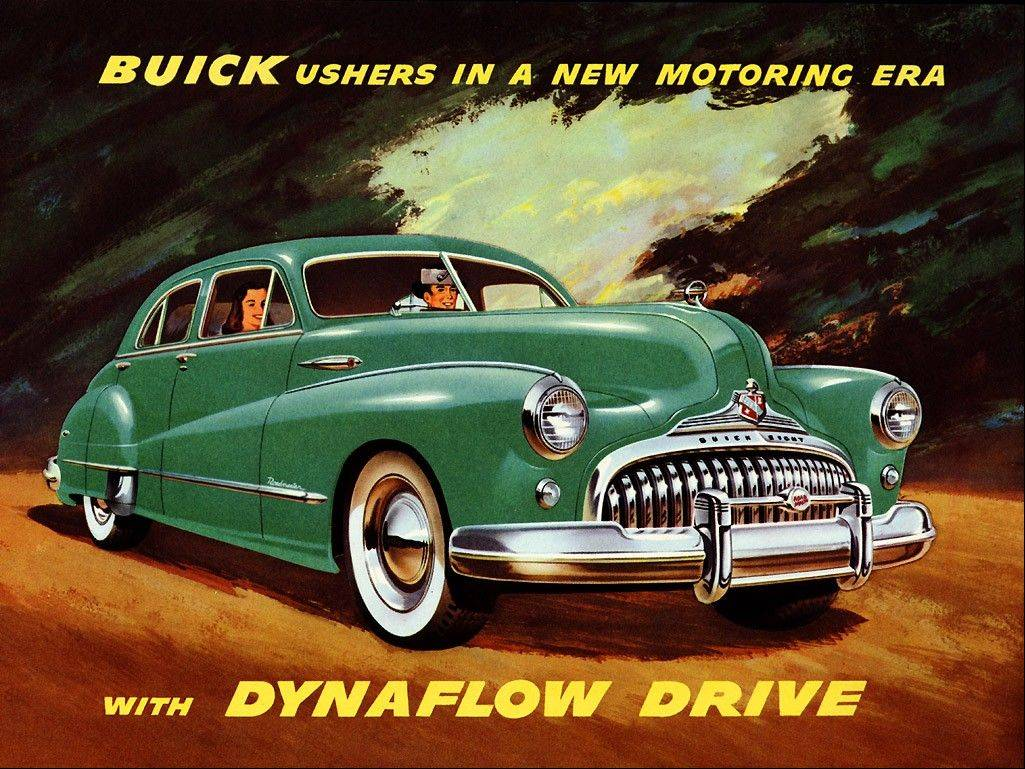 Buick introduced its Dyanflow transmission in its 1948 model.