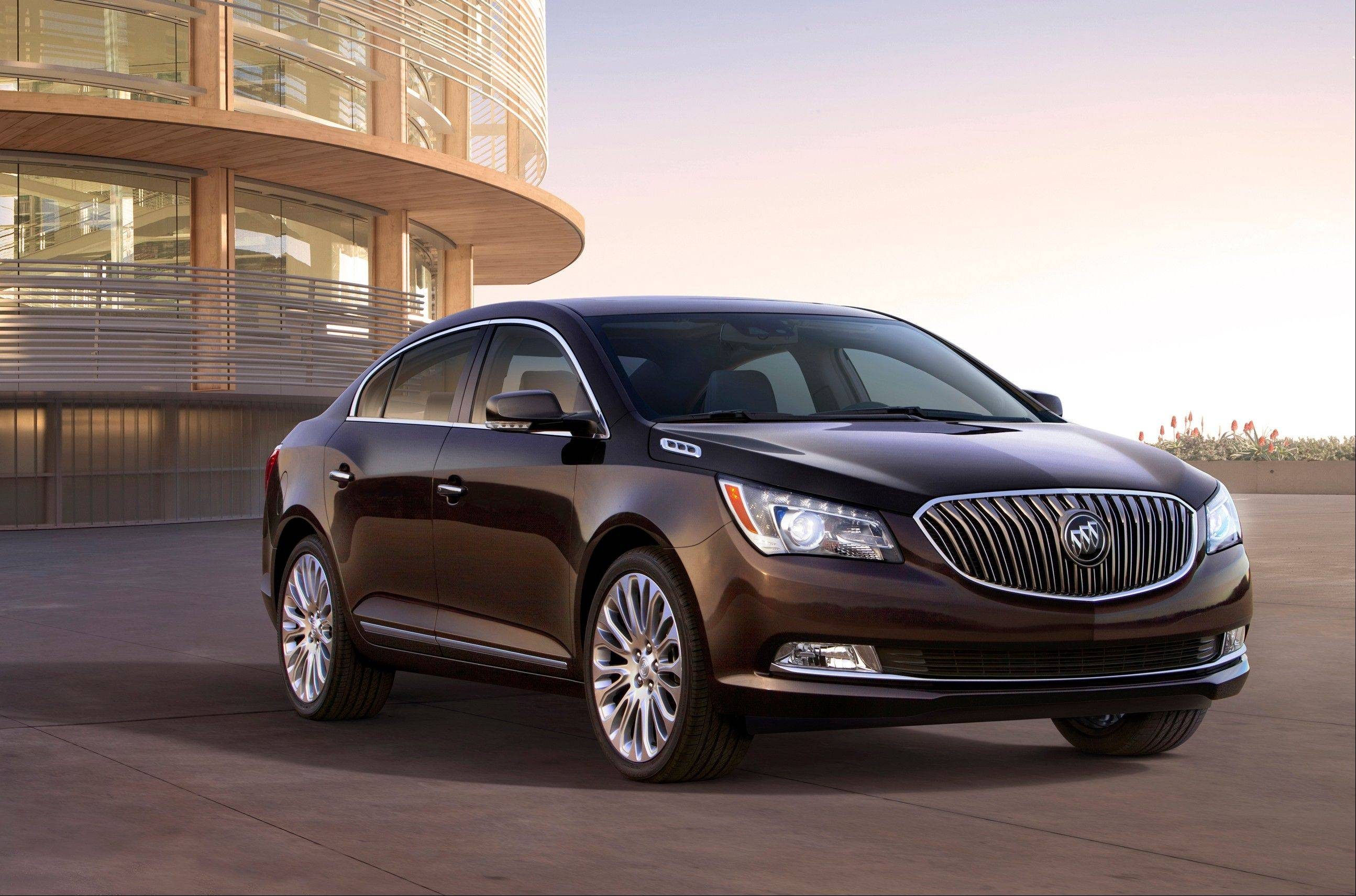 This is a 2014 Buick LaCrosse. GM is taking the latest step on its seemingly quixotic quest to revive the Buick brand in the U.S., rolling out refurbished versions of the midsize Regal and the larger LaCrosse.