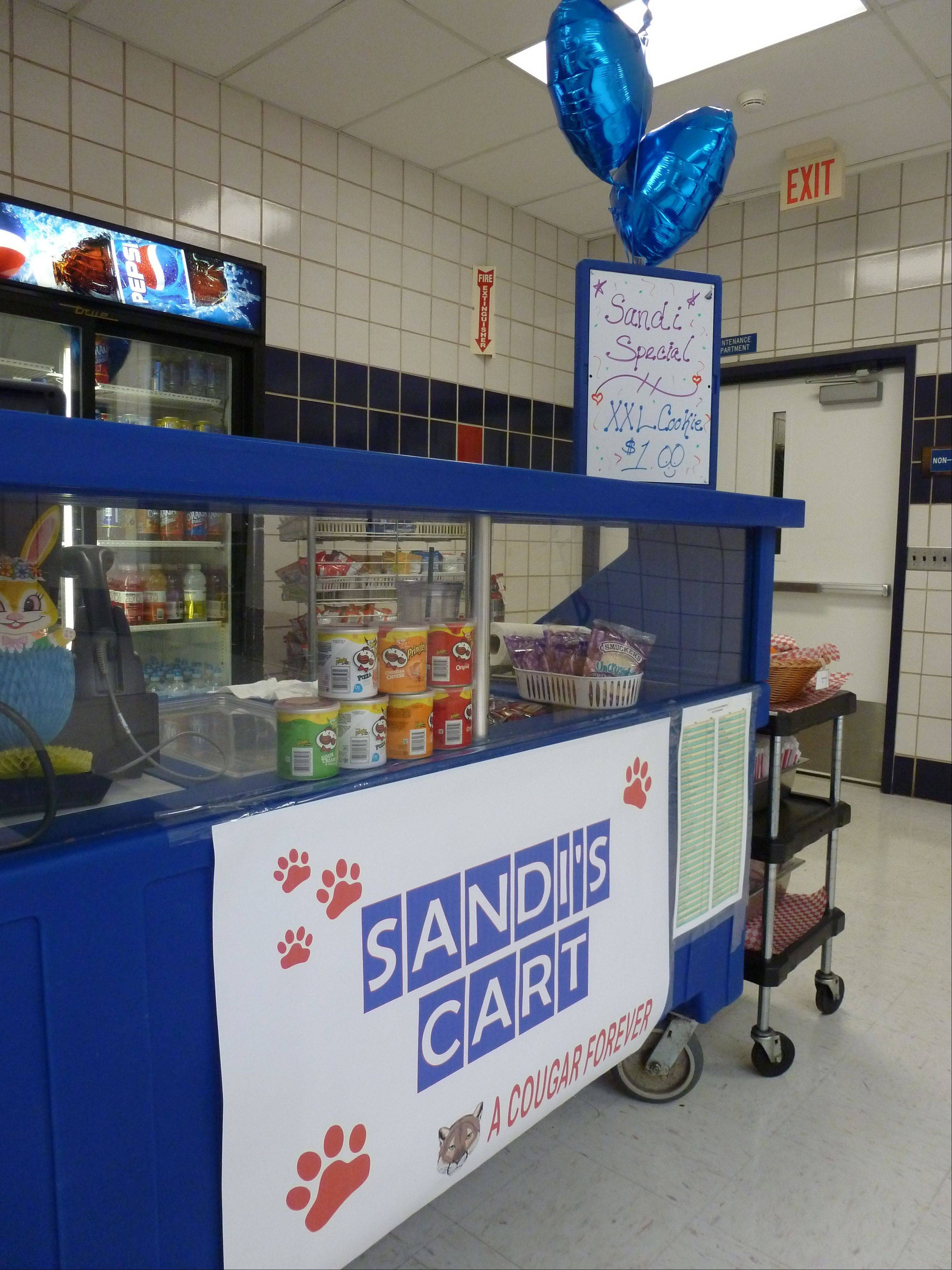 A petition is being circulated at Conant to permanently name the cart for Sandi Smith.
