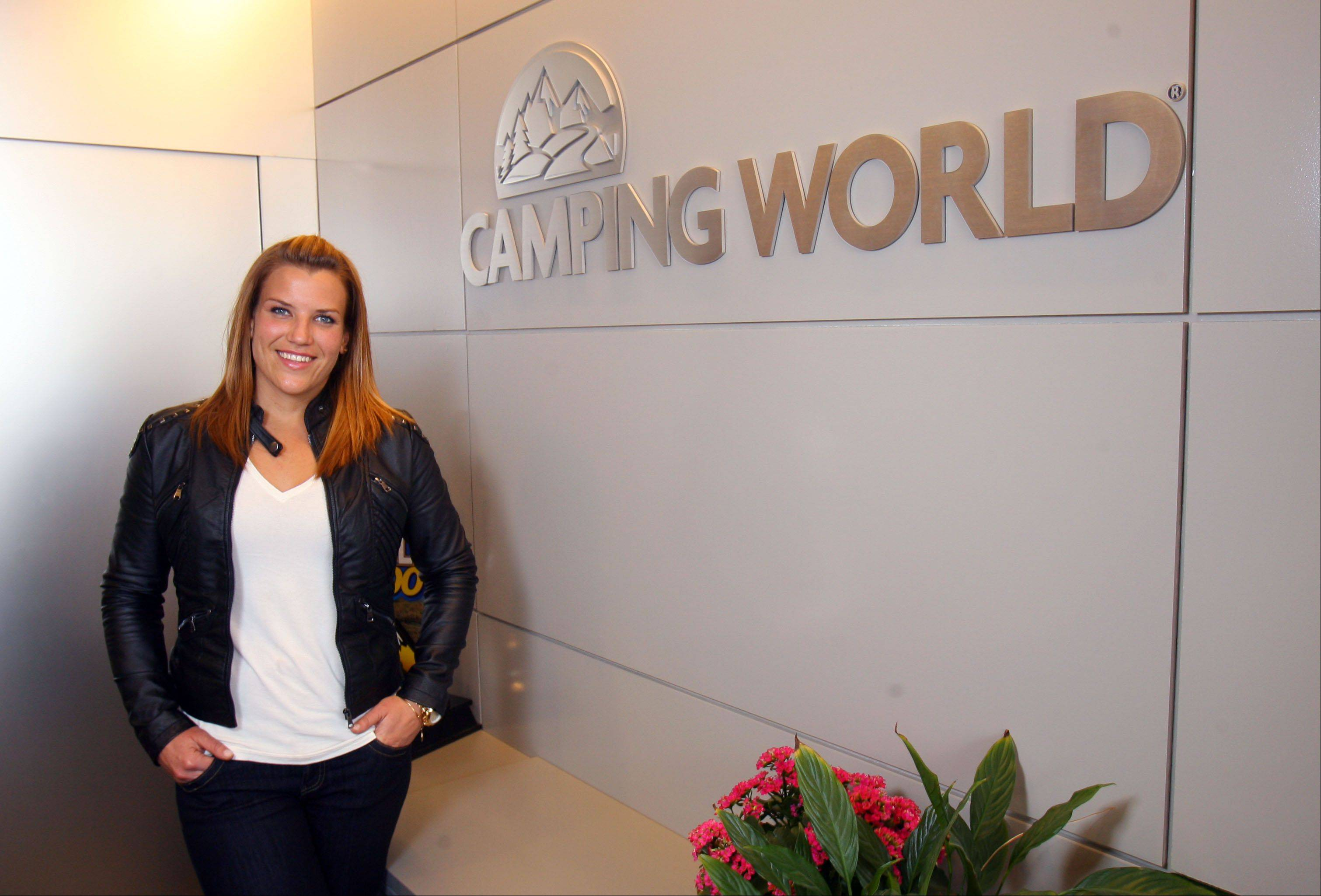 "Wheeling's ""Biggest Loser"" winner Danni Allen is back to work at Camping World in Lincolnshire. Allen lost 121 pounds on the reality show."