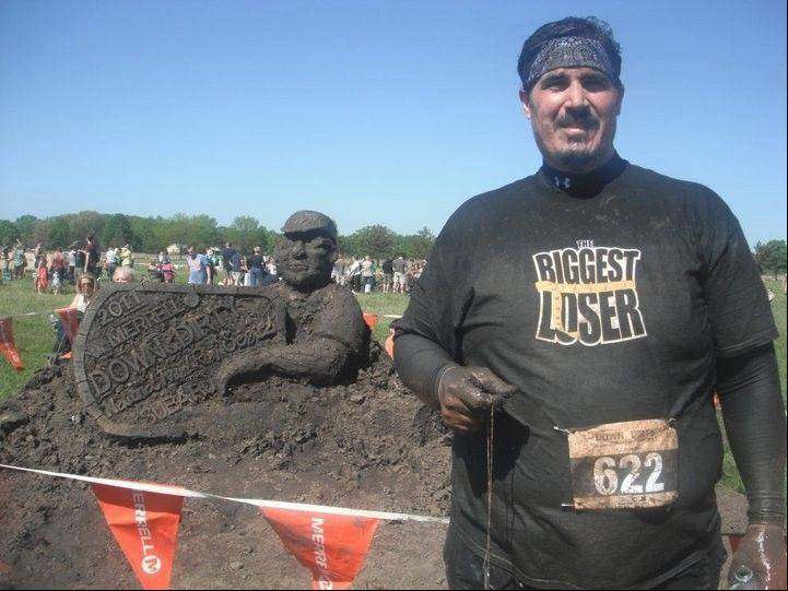 "Julio Gomez of Algonquin, a contestant on the eighth season of ""The Biggest Loser,"" continues to remain active, such as when he took part in a mud run last year."