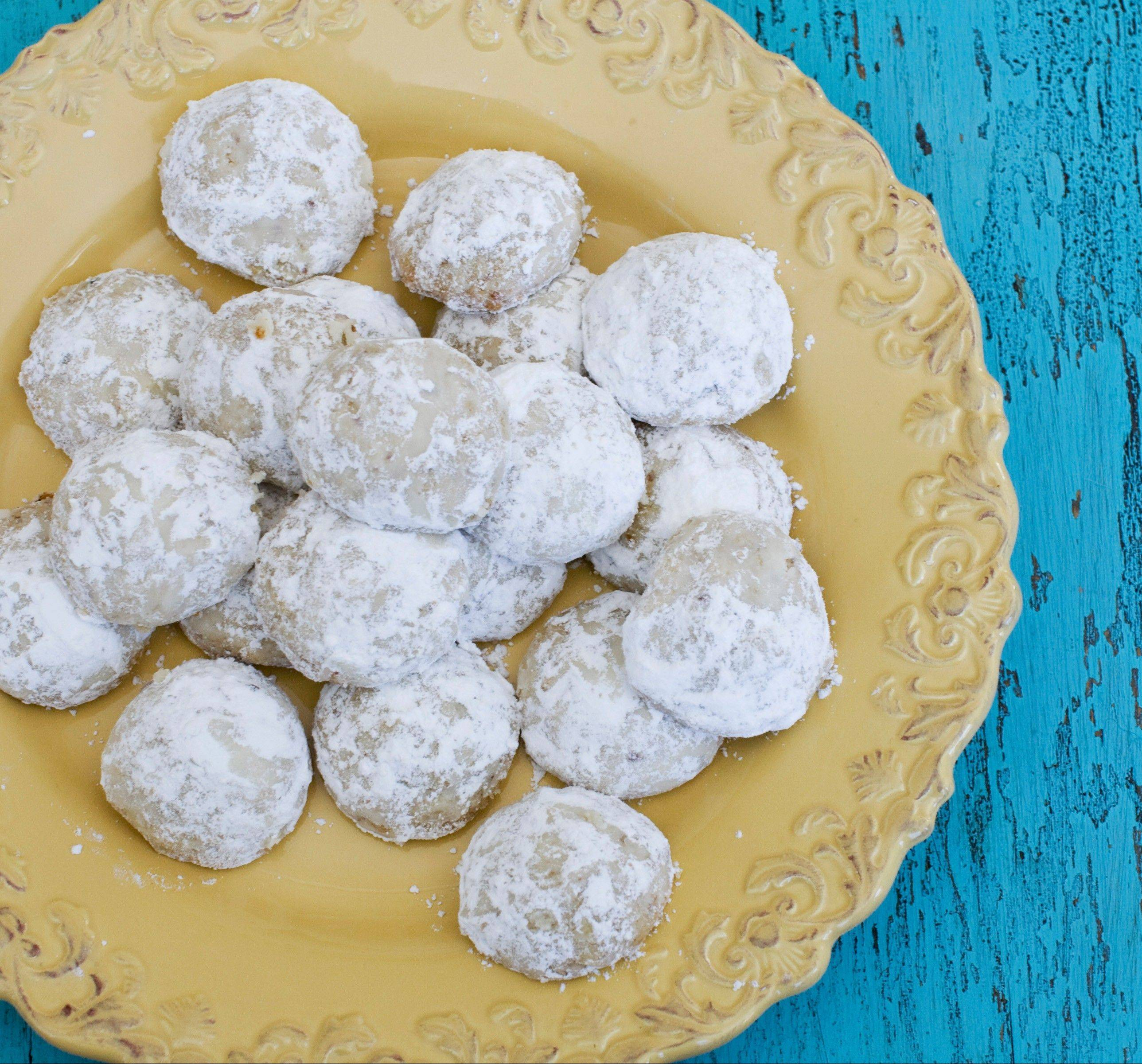 Lemon wedding cookies are a refreshing addition to the Easter table.