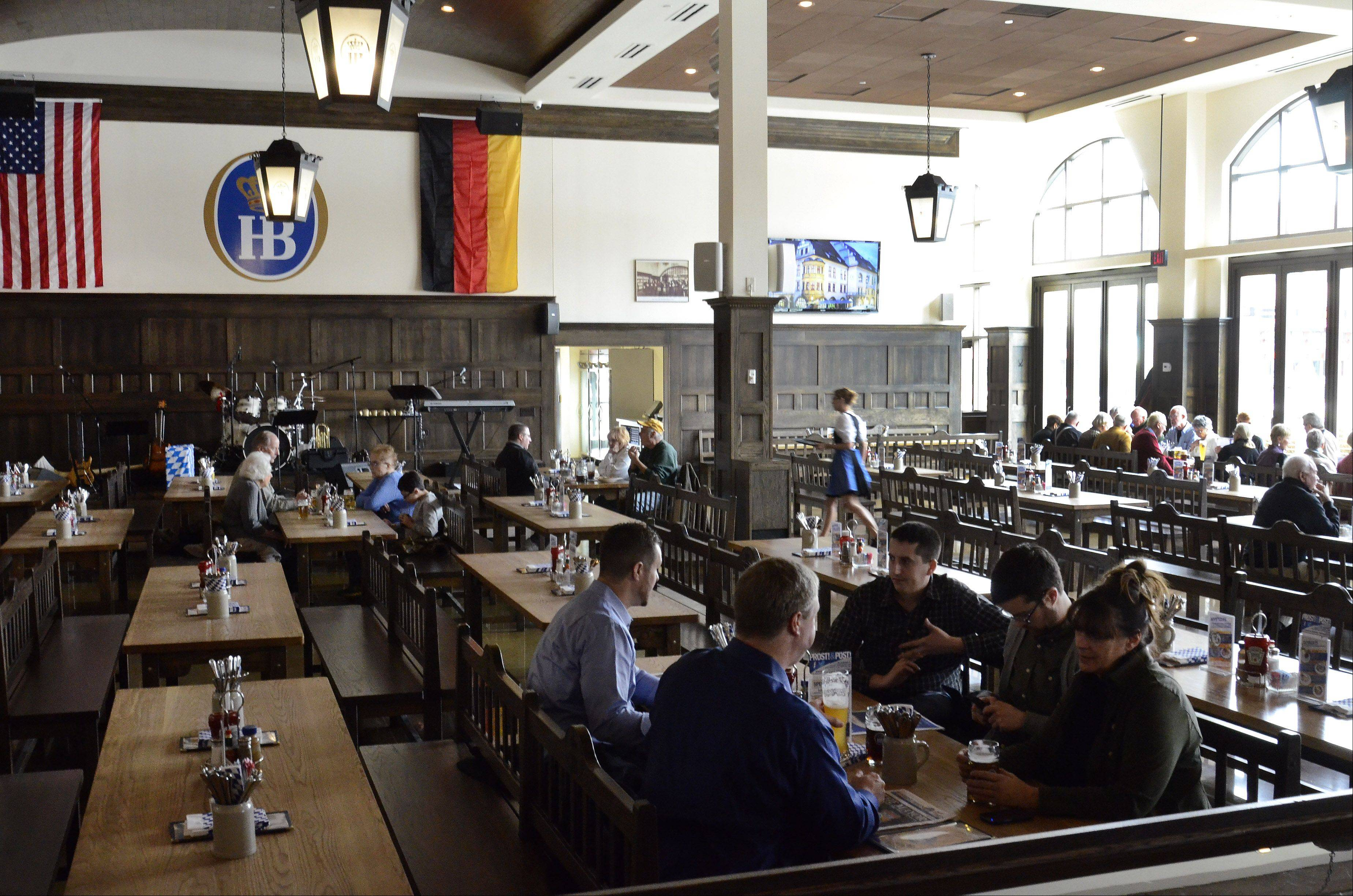 Hofbrauhaus is the latest restaurant to open at MB Financial Park in Rosemont.