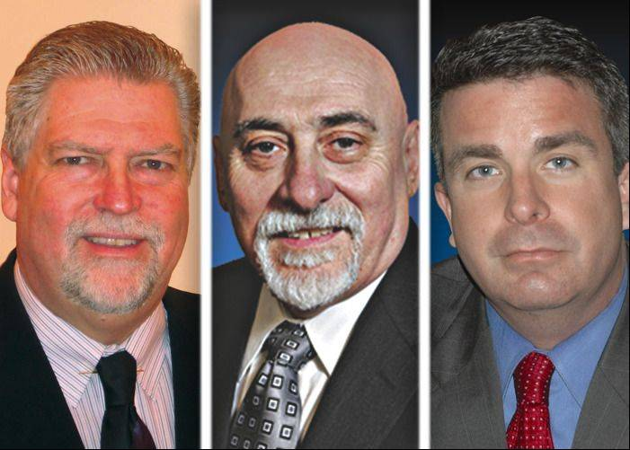 Rich Johnson, Oronzo Peconio and Frank Soto are candidates in the race for Bensenville village president.
