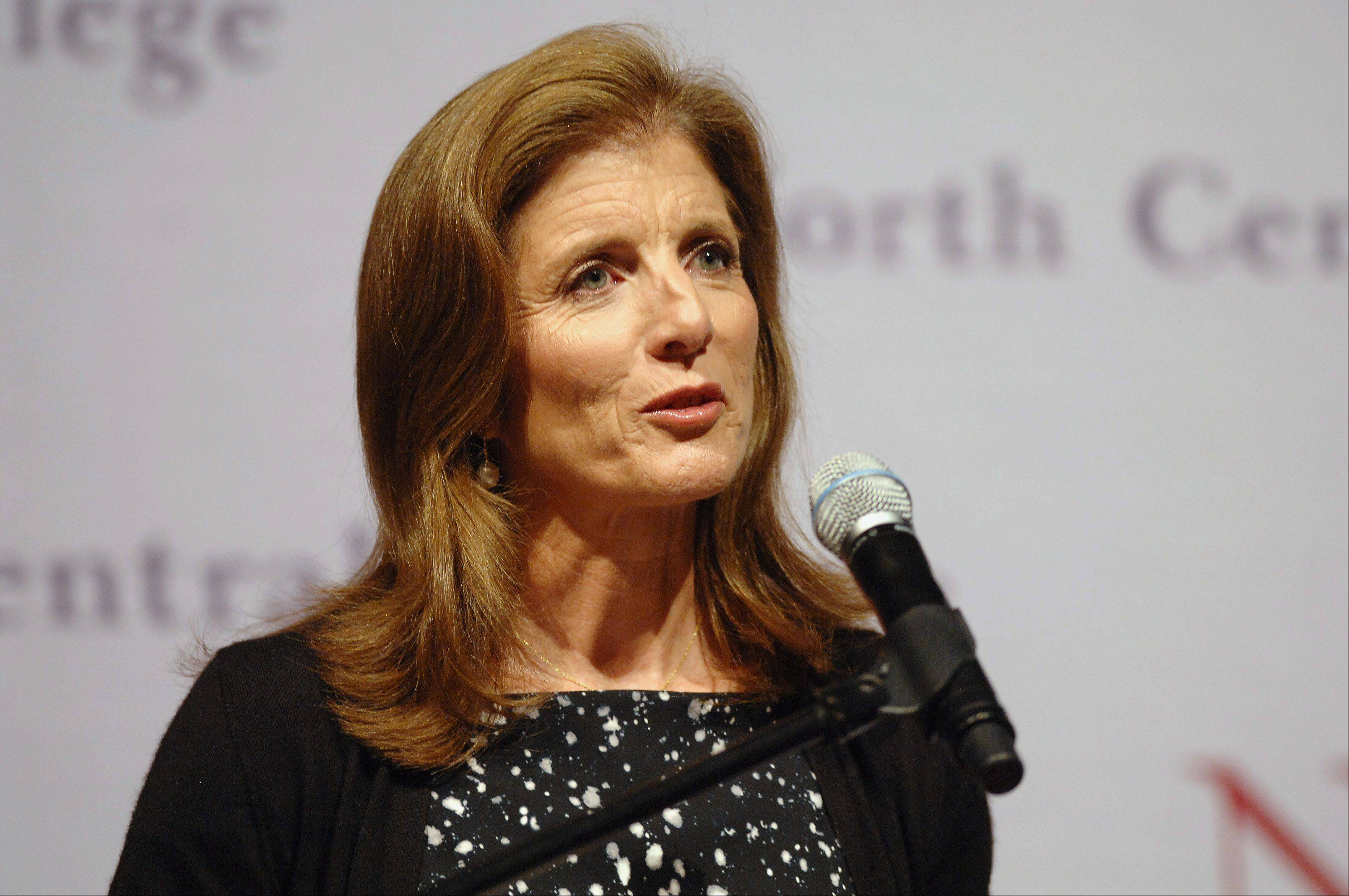 "Caroline Kennedy will talk about her new book, ""Poems to Learn By Heart,"" at North Central College in Naperville."