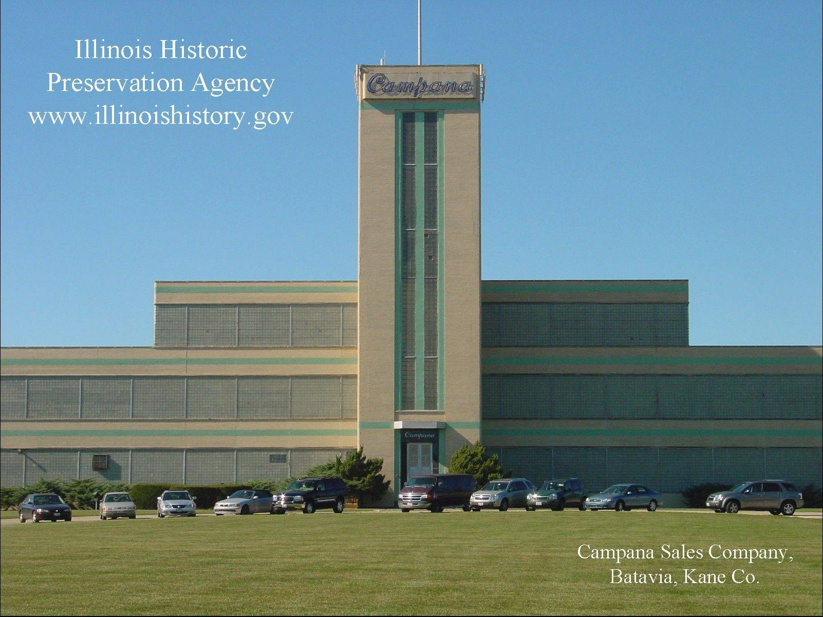 The Campana factory in Batava is among the architectural images available in the new screensaver launched by the Illinois Historic Preservation Agency.