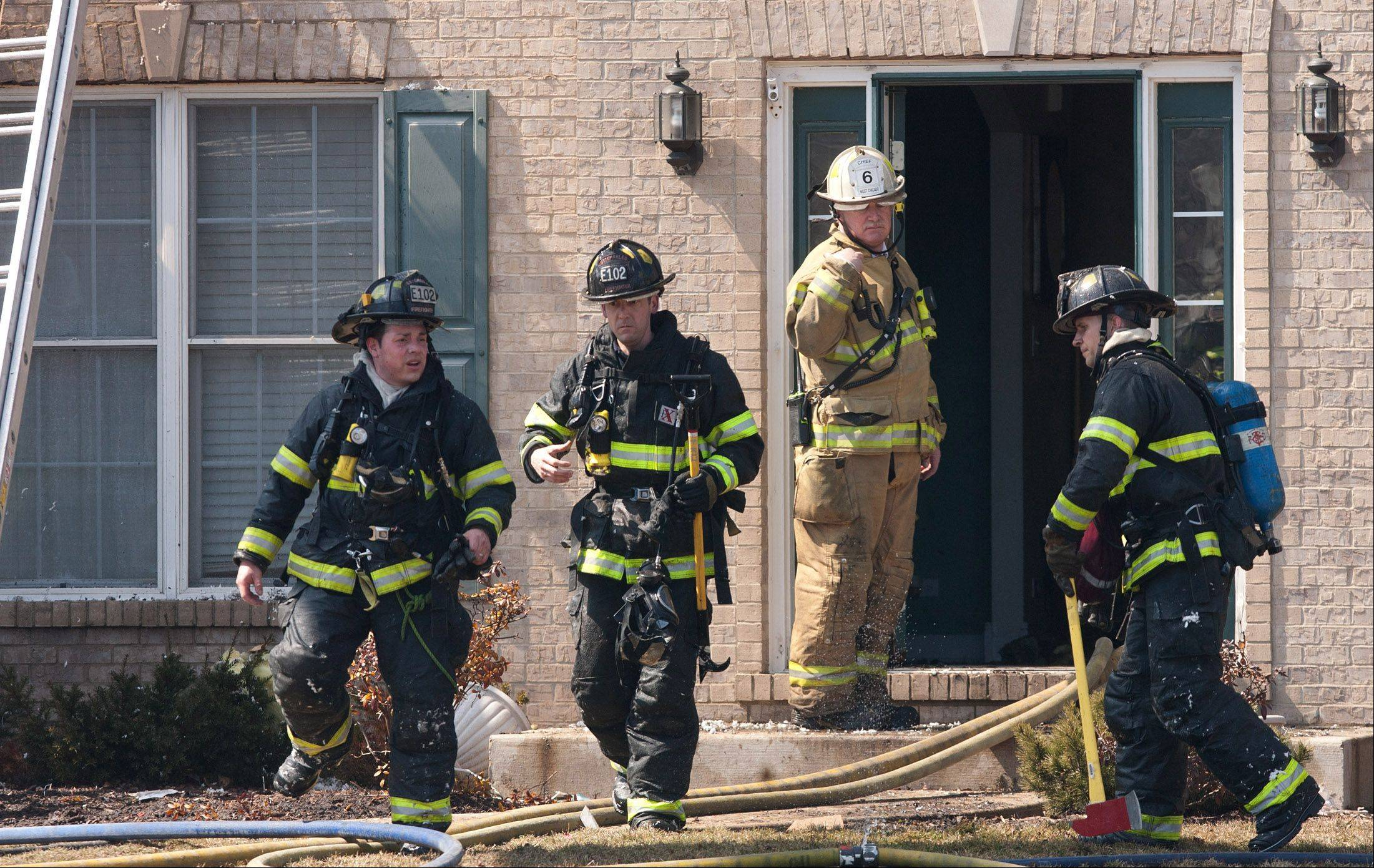 A West Chicago house on the 2400 block of Alamance Drive was left a total loss Thursday after a fire swept through it.