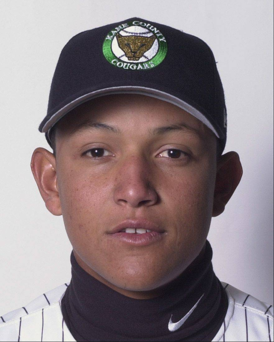 Miguel Cabrera played for the Kane County Cougars in 2001.
