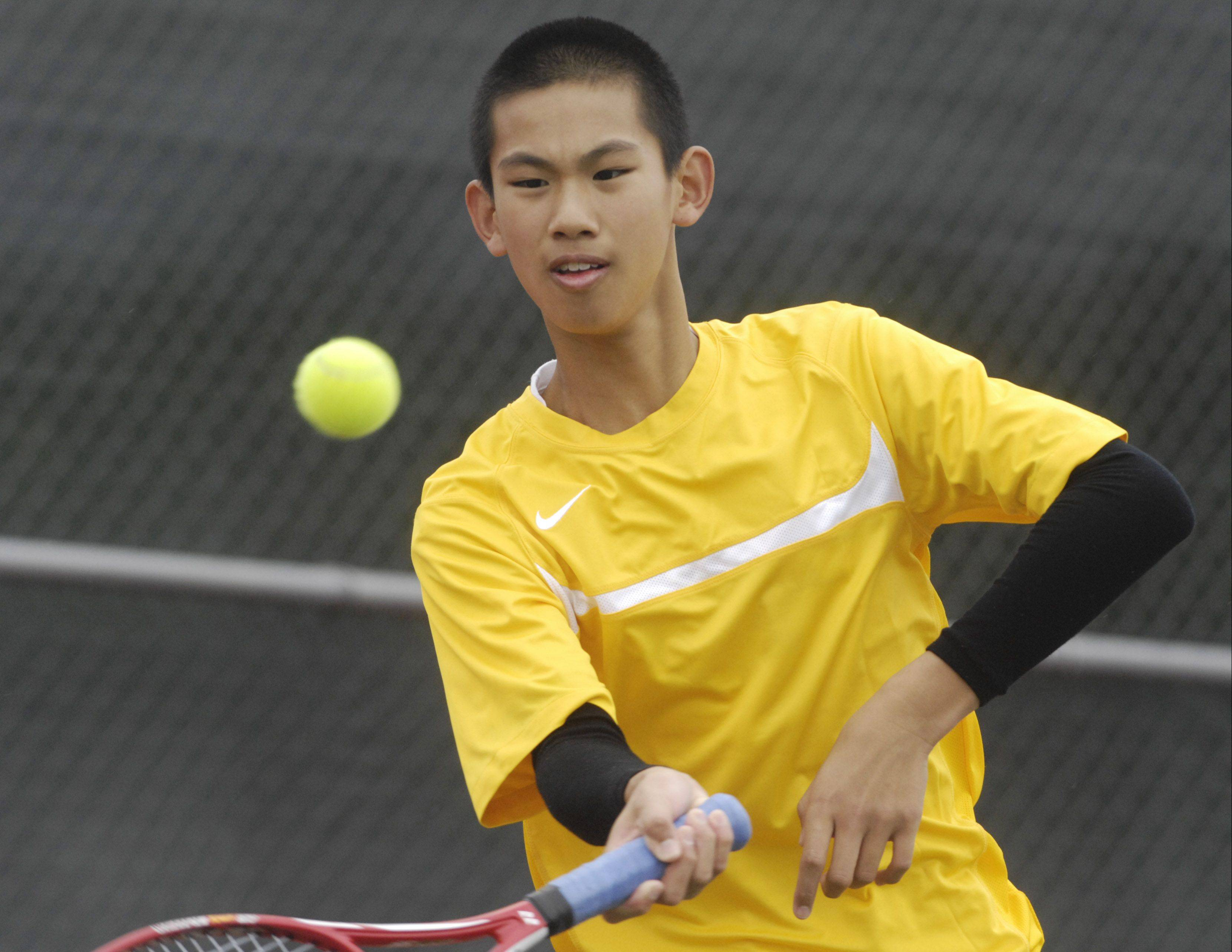Schaumburg's Vincent Lin, here on his way to winning a Mid-Suburban League title as a freshman, could net a top 5-8 state seed later this spring.