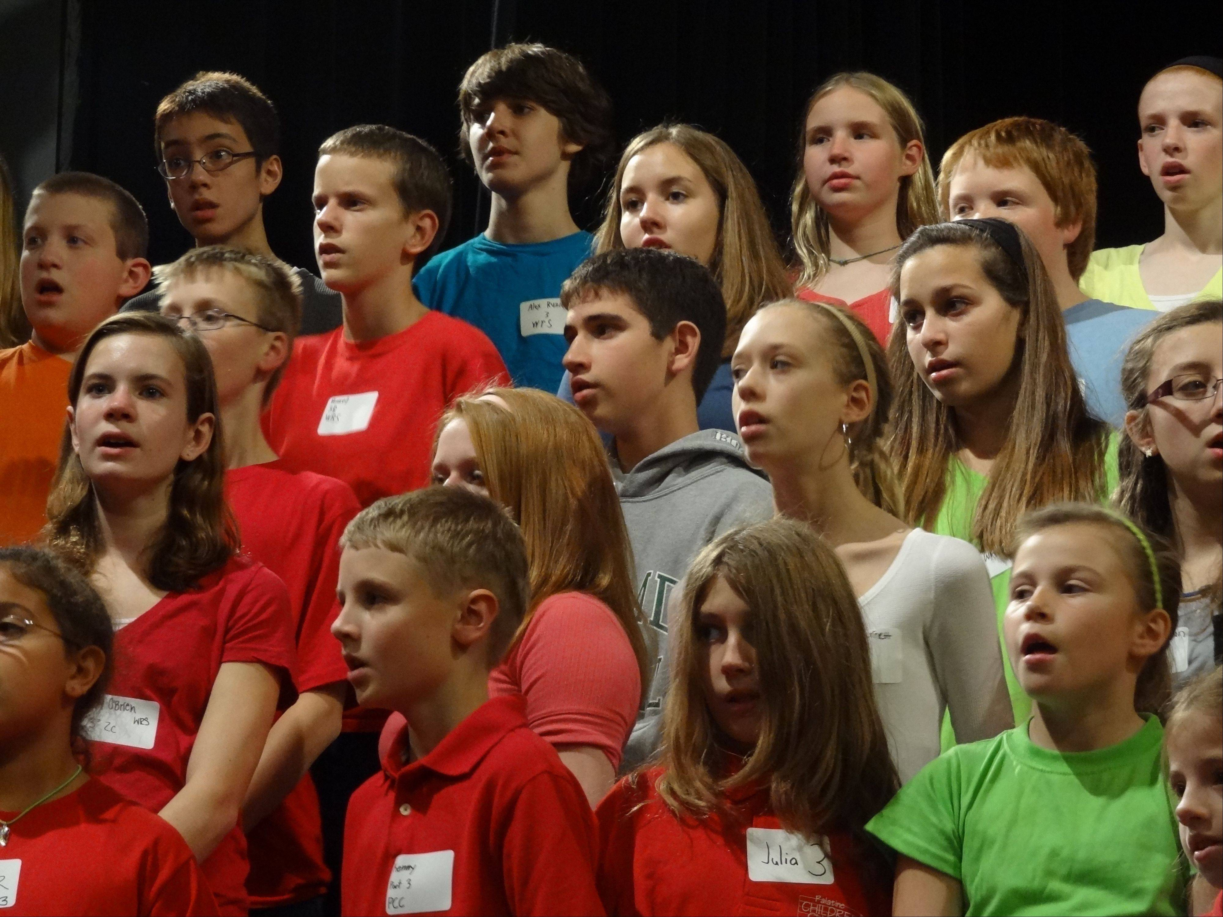 The Palatine Children's Chorus hosts its third annual One Voice Festival Tuesday, April 2, at Cutting Hall Performing Arts Center, 150 E. Wood St., Palatine.