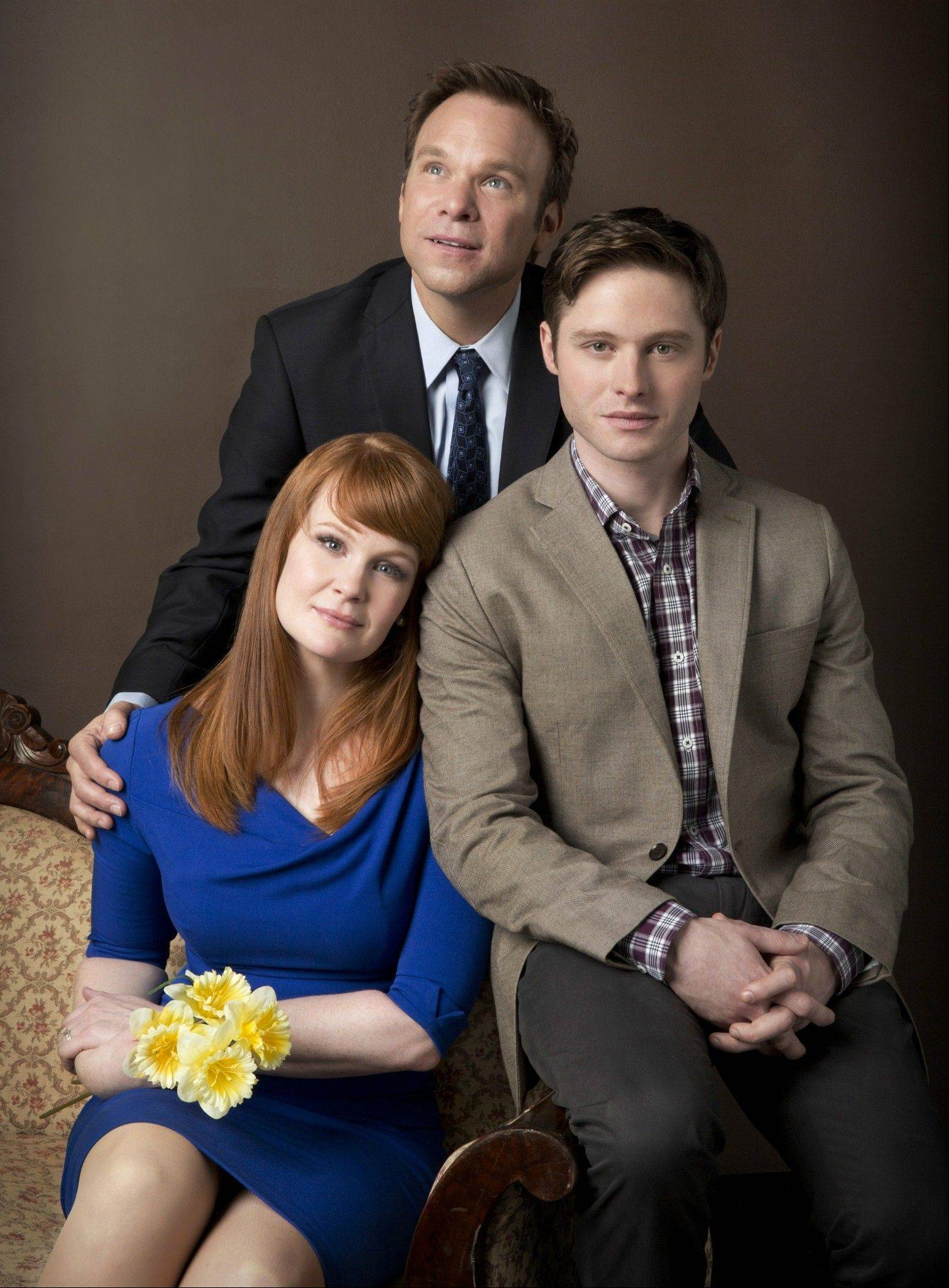 "Two-time Tony Award-winner Norbert Leo Butz, middle, stars with Tony Award nominees Kate Baldwin and Bobby Steggert in the world premiere of ""Big Fish"" at Chicago's Oriental Theatre starting Tuesday, April 2."