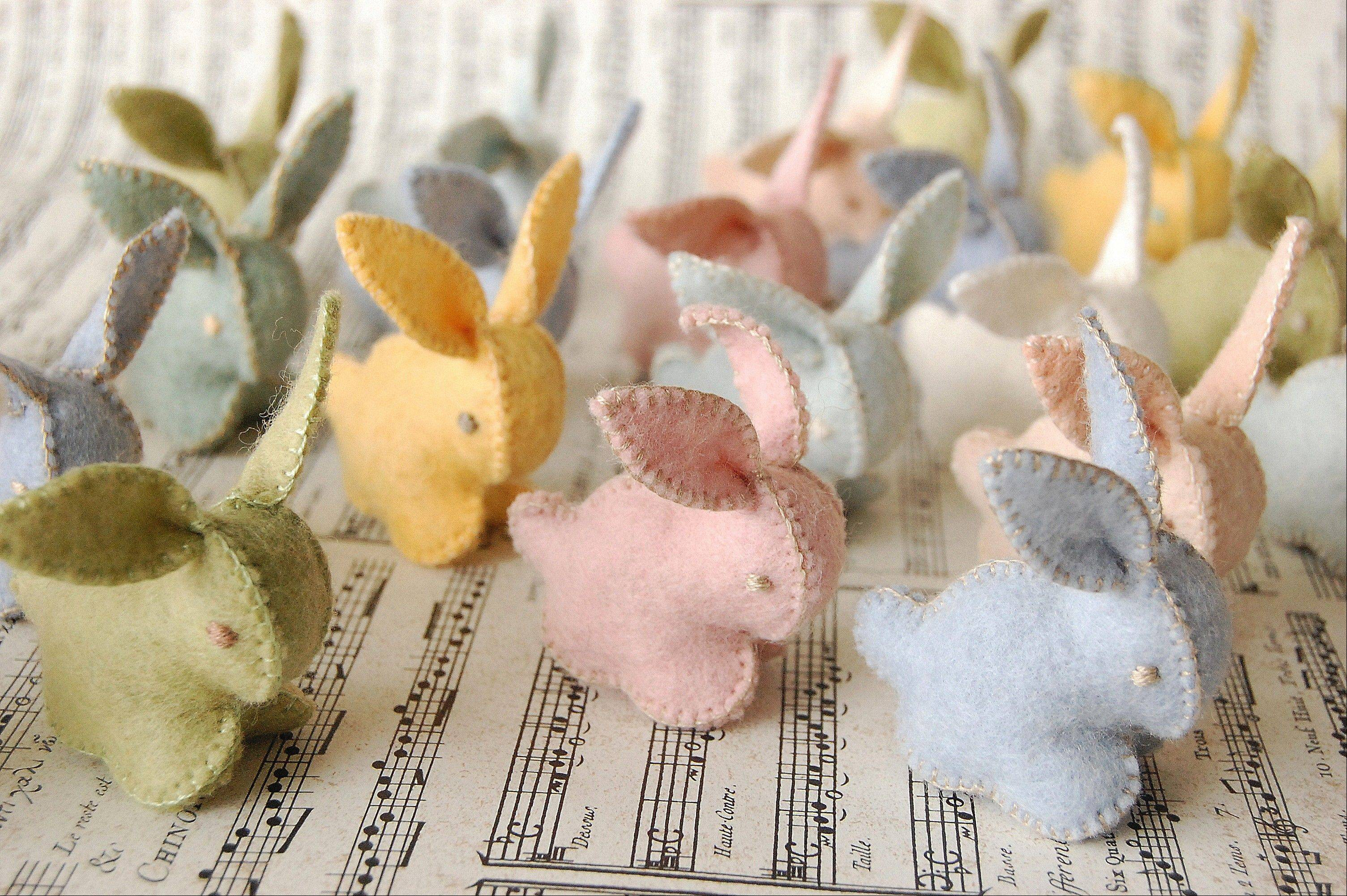 Larsen uses merino wool to make all the felt, dyes the colors and stitches every toy by hand.
