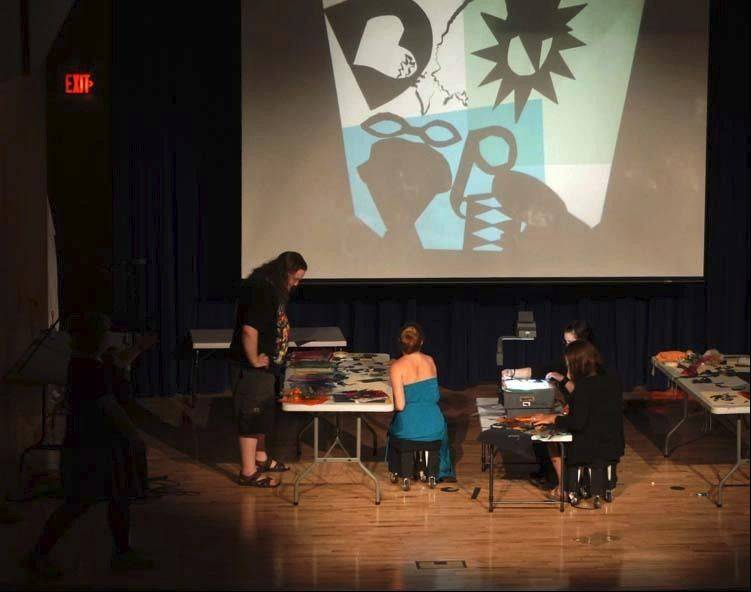 "An example of a previous ""Shadow Puppet Conspiracy"" improv from Glen Ellyn's Sea Beast Puppet Company."