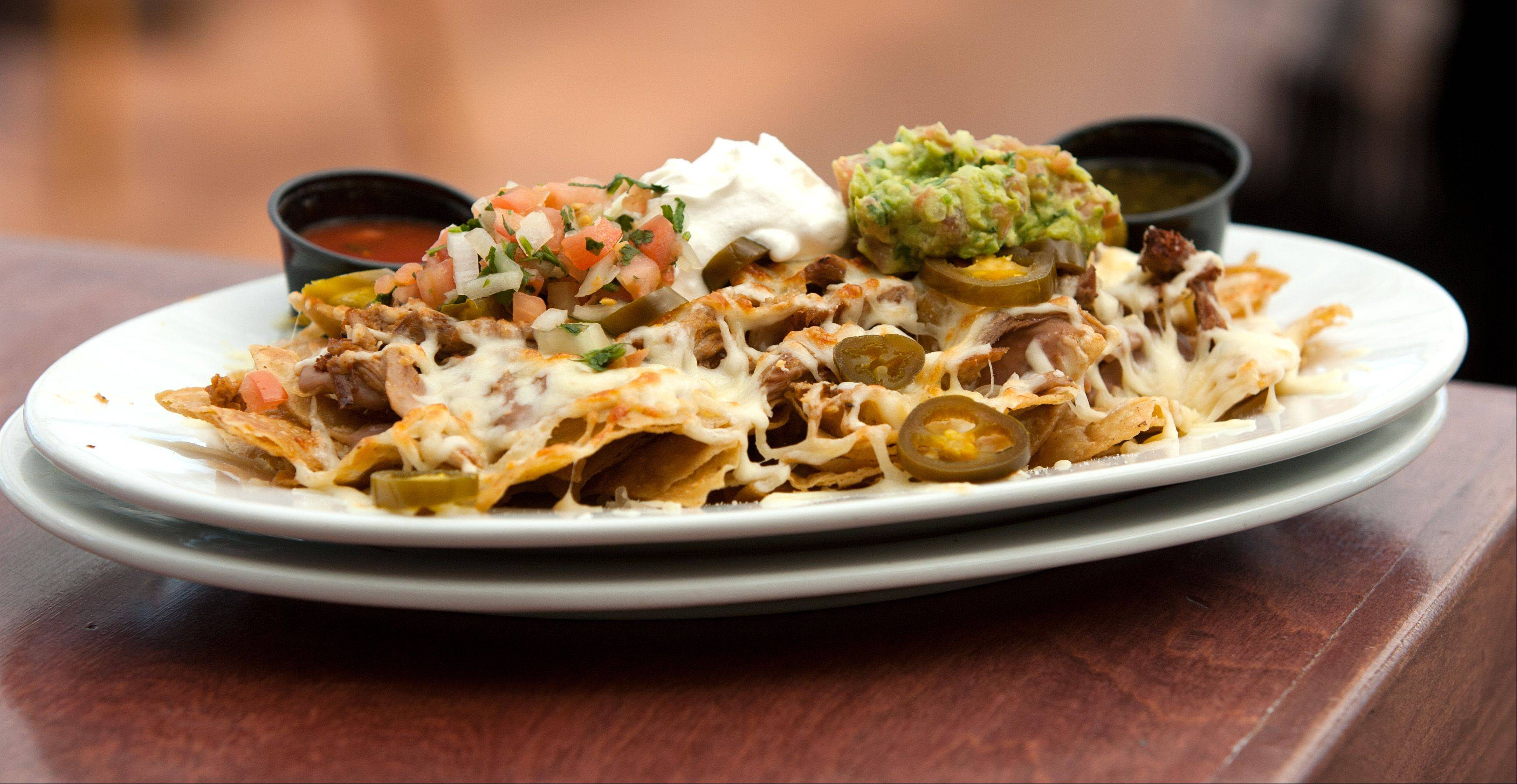 Get your meal started with nachos or another appetizer at HB Jones in Elmhurst.