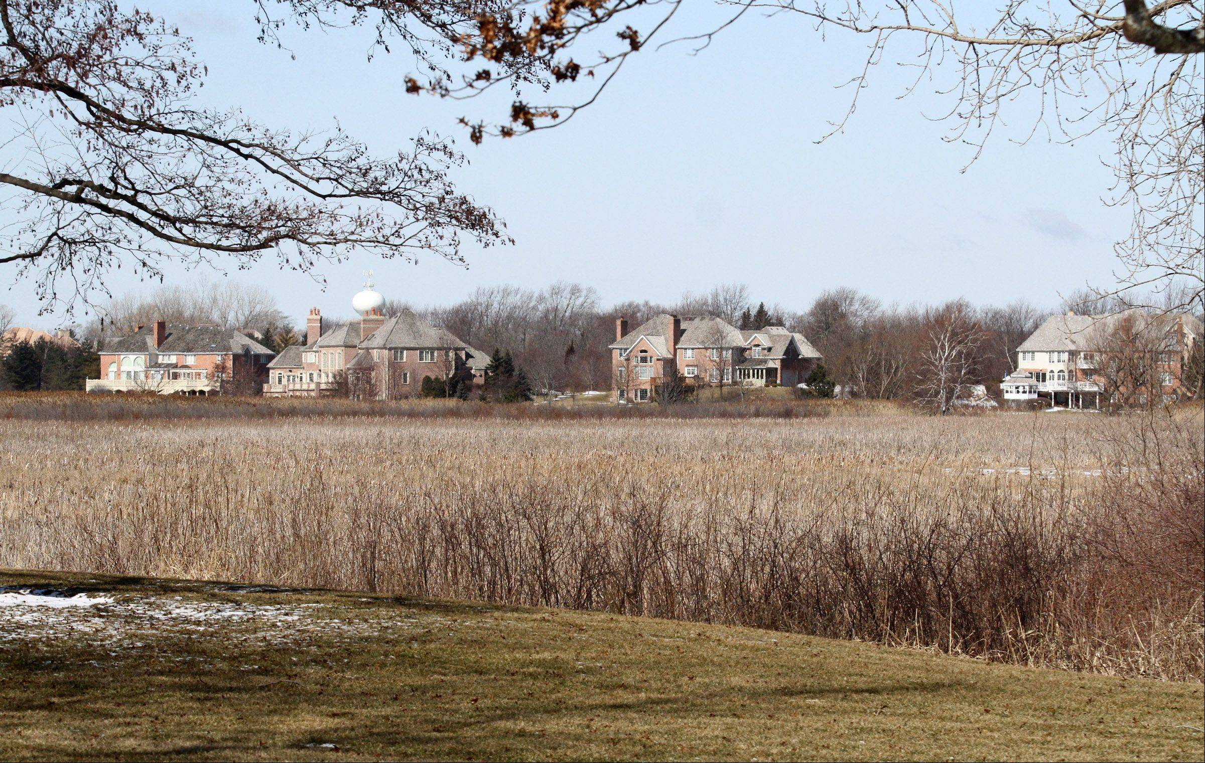 The view from Galloway Drive and Drummond Circle in Inverness Hills shows how much open space residents enjoy.
