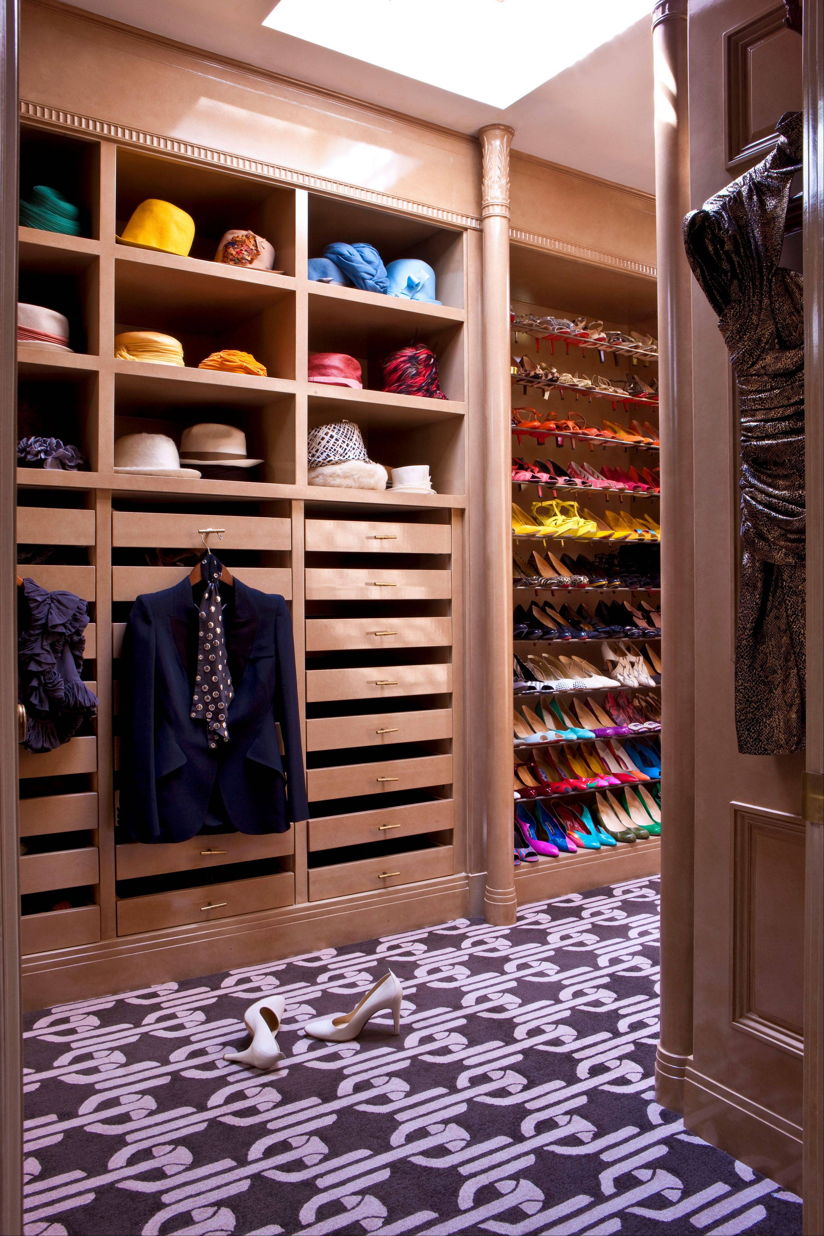 Designer Kelly Wearstler says the closet is the foundation regarding color, style and textures.