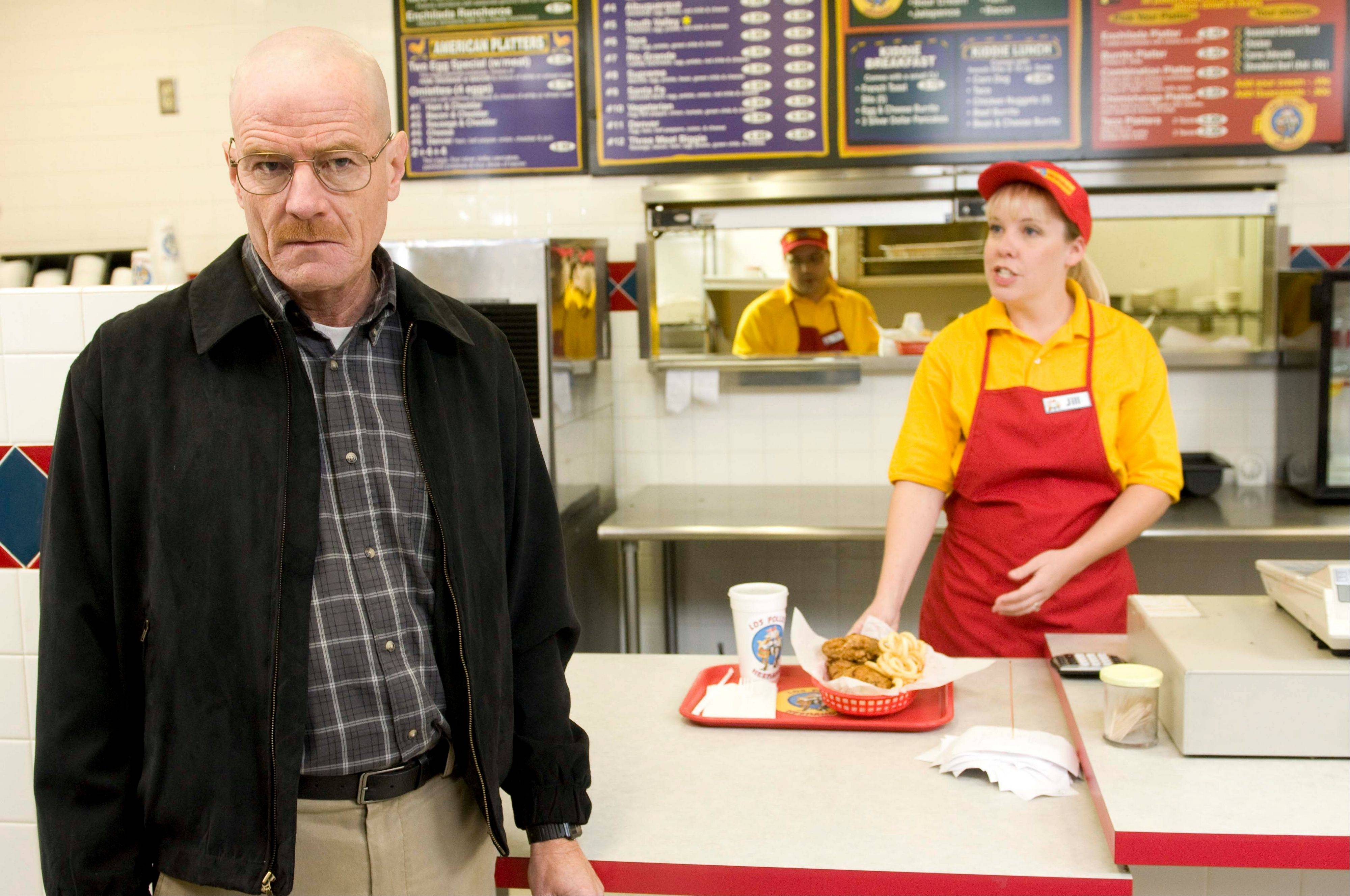 Bryan Cranston as Walter White in a scene from the popular AMC series �Breaking Bad.� A Twisters burrito restaurant in Albuquerque that serves as the location for the restaurant in the show has become an international tourist attraction as people come from all over the world to see the spot where a fictional drug trafficker runs his organization.