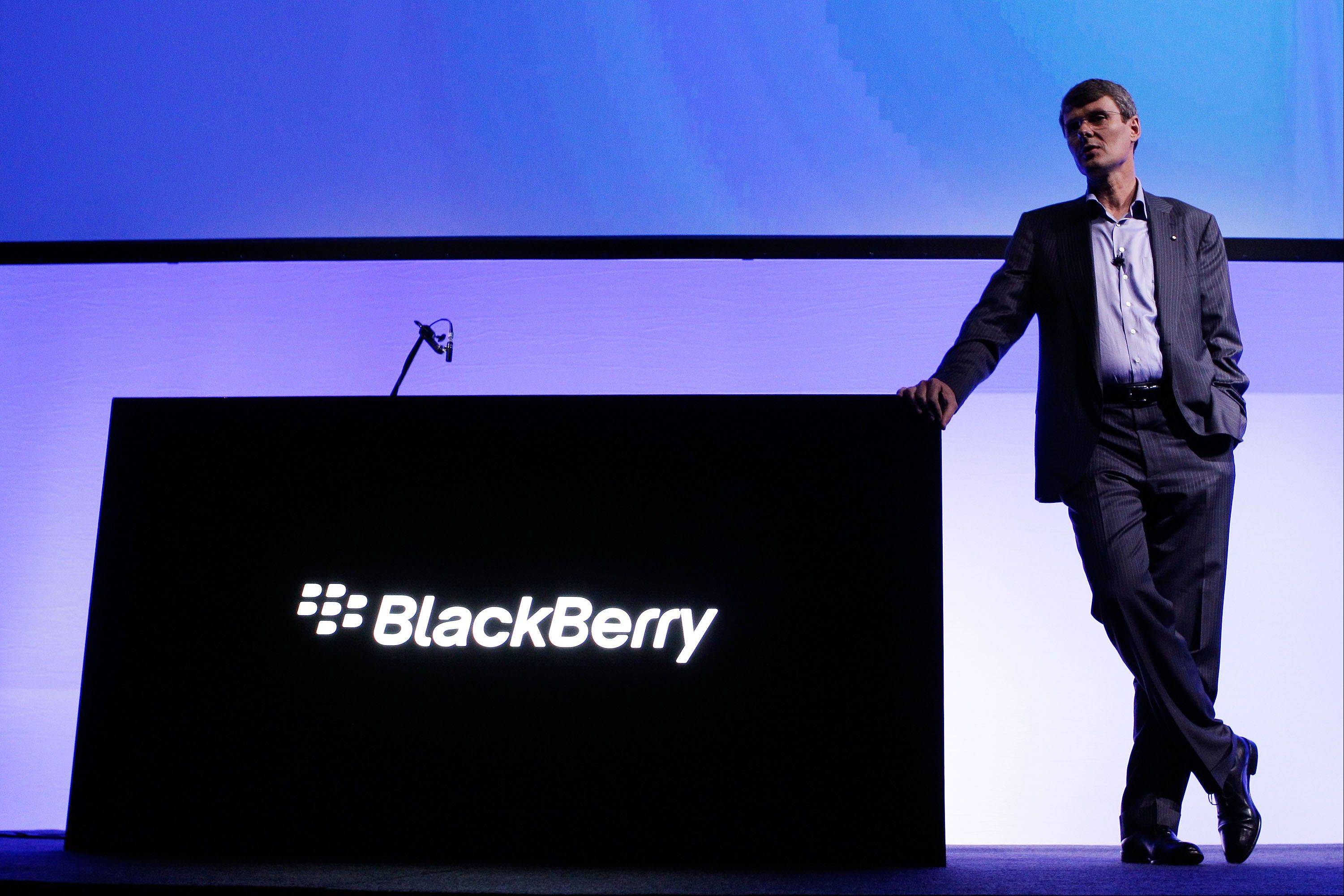 Thorsten Heins, chief executive officer of BlackBerry, attends the launch of the BlackBerry Z10 smartphone in Sydney, Australia, on Monday, March 18, 2013.