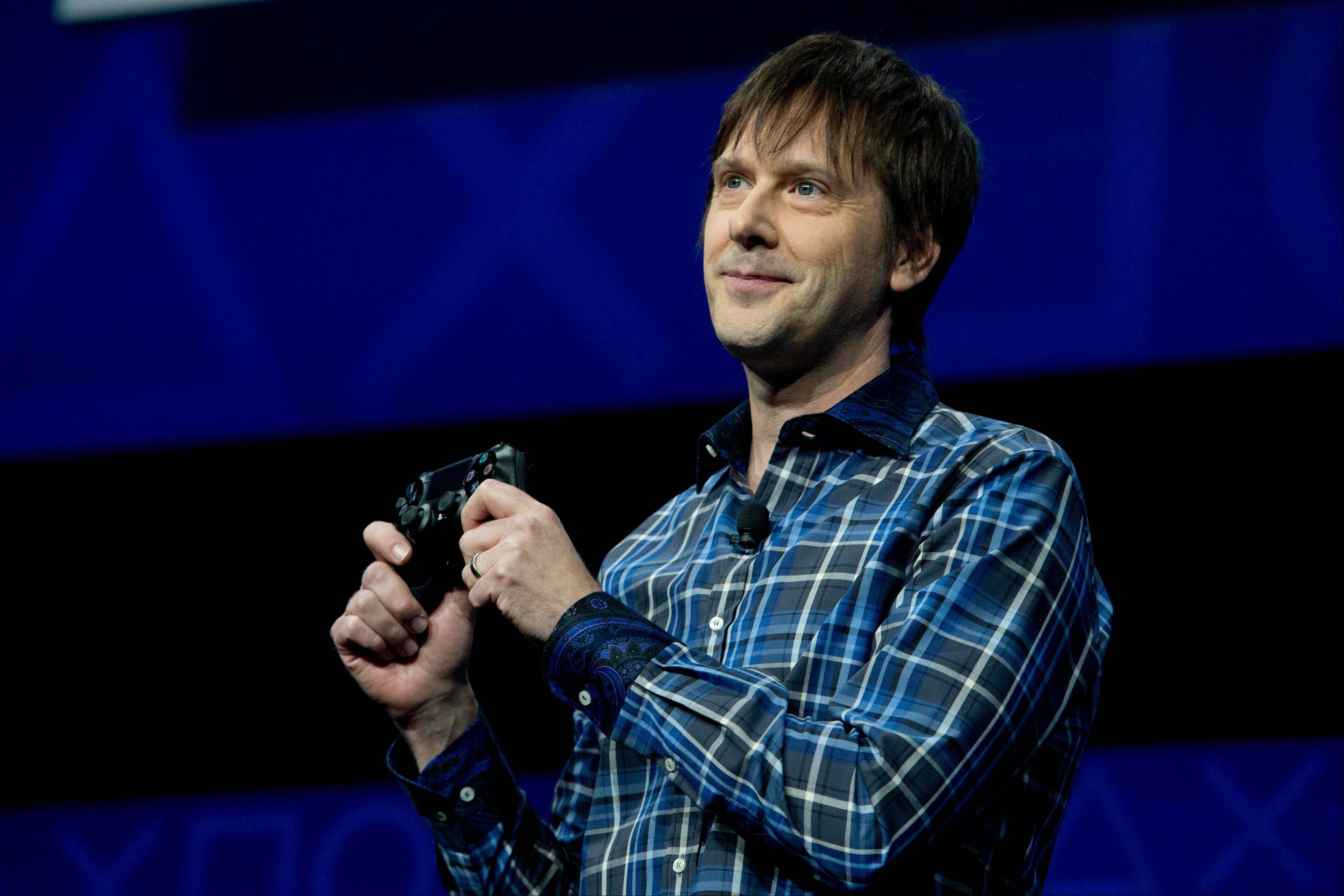 In this Feb. 20, 2013 file photo, Mark Cerny, lead system architect for the Sony Playstation 4 speaks during an event to announce the new video game console, in New York.