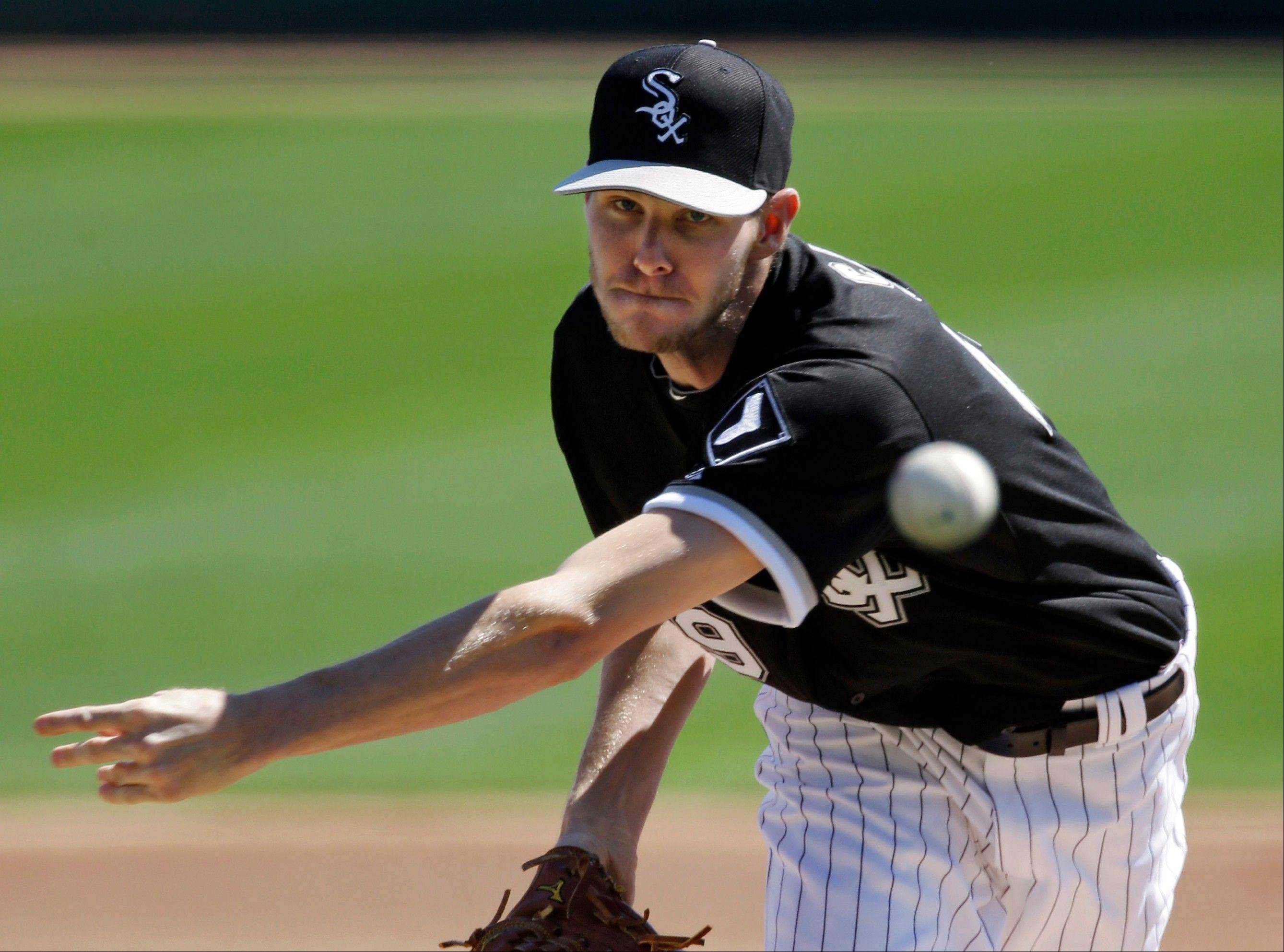 White Sox starting pitcher Chris Sale opens the season today on the mound against the Kansas City Royals at U.S. Cellular Field.