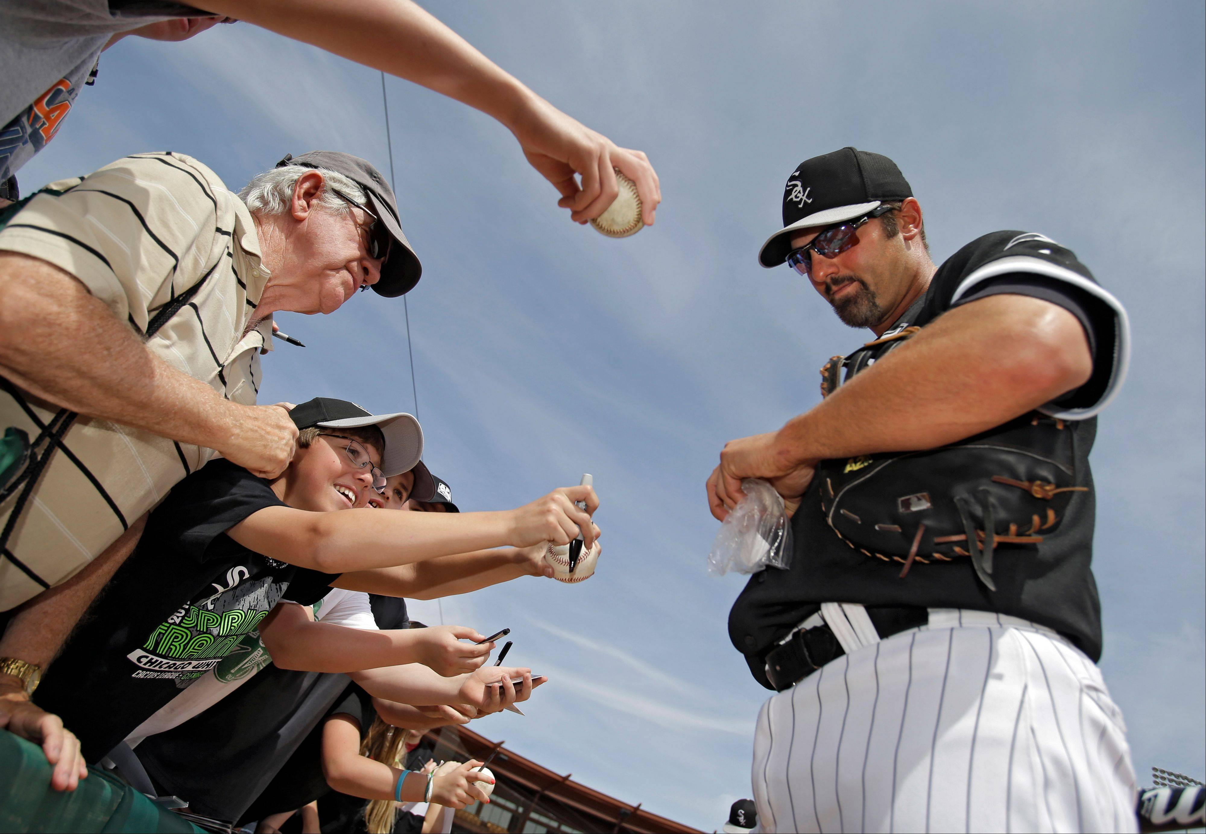 Paul Konerko makes his 13th straight opening-day start at first base Monday for the White Sox.