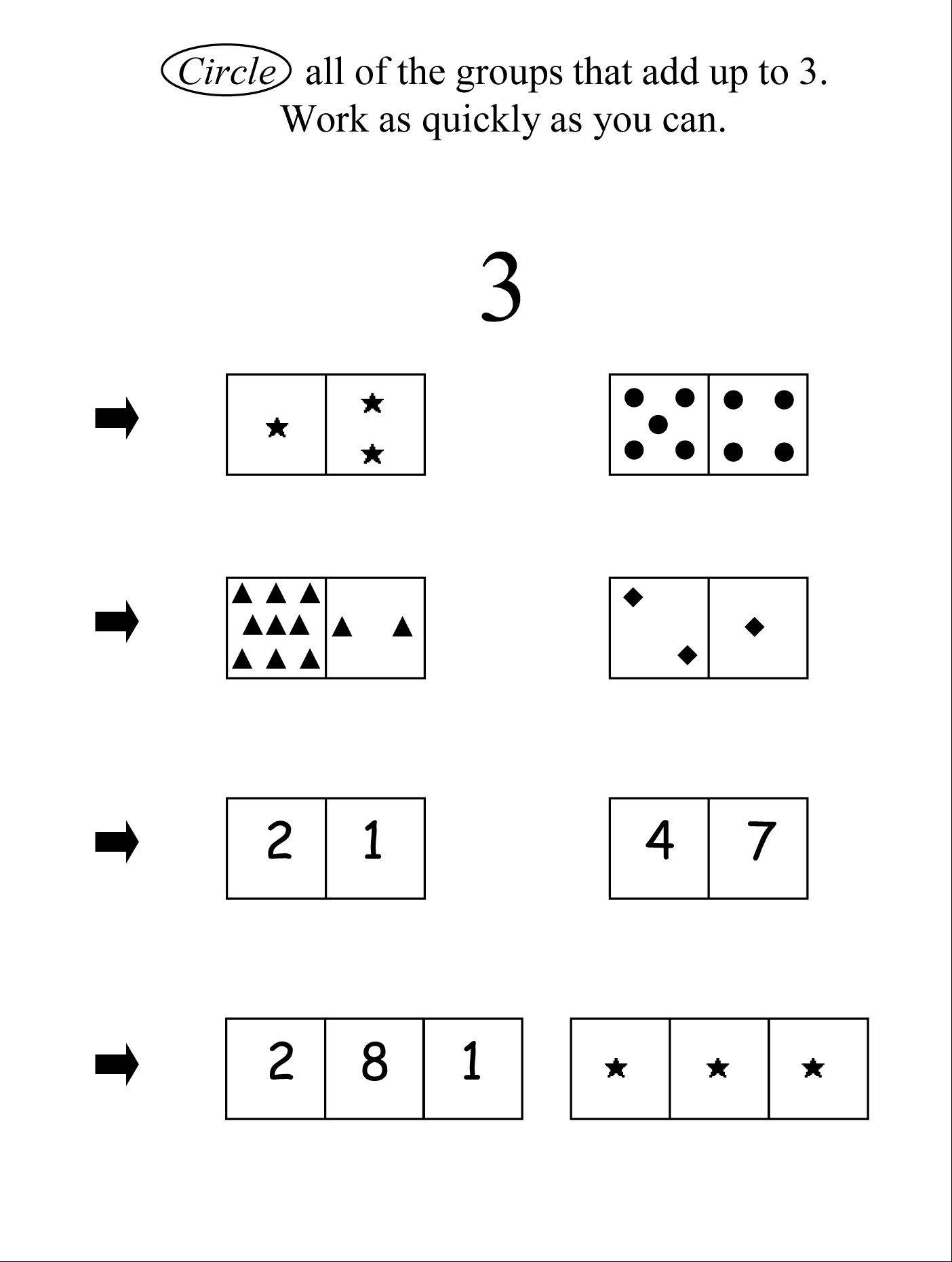 "This is illustration was part of a University of Missouri study that examined first-graders' ""number system knowledge"" or how well they understand such things as that numbers represent quantities."