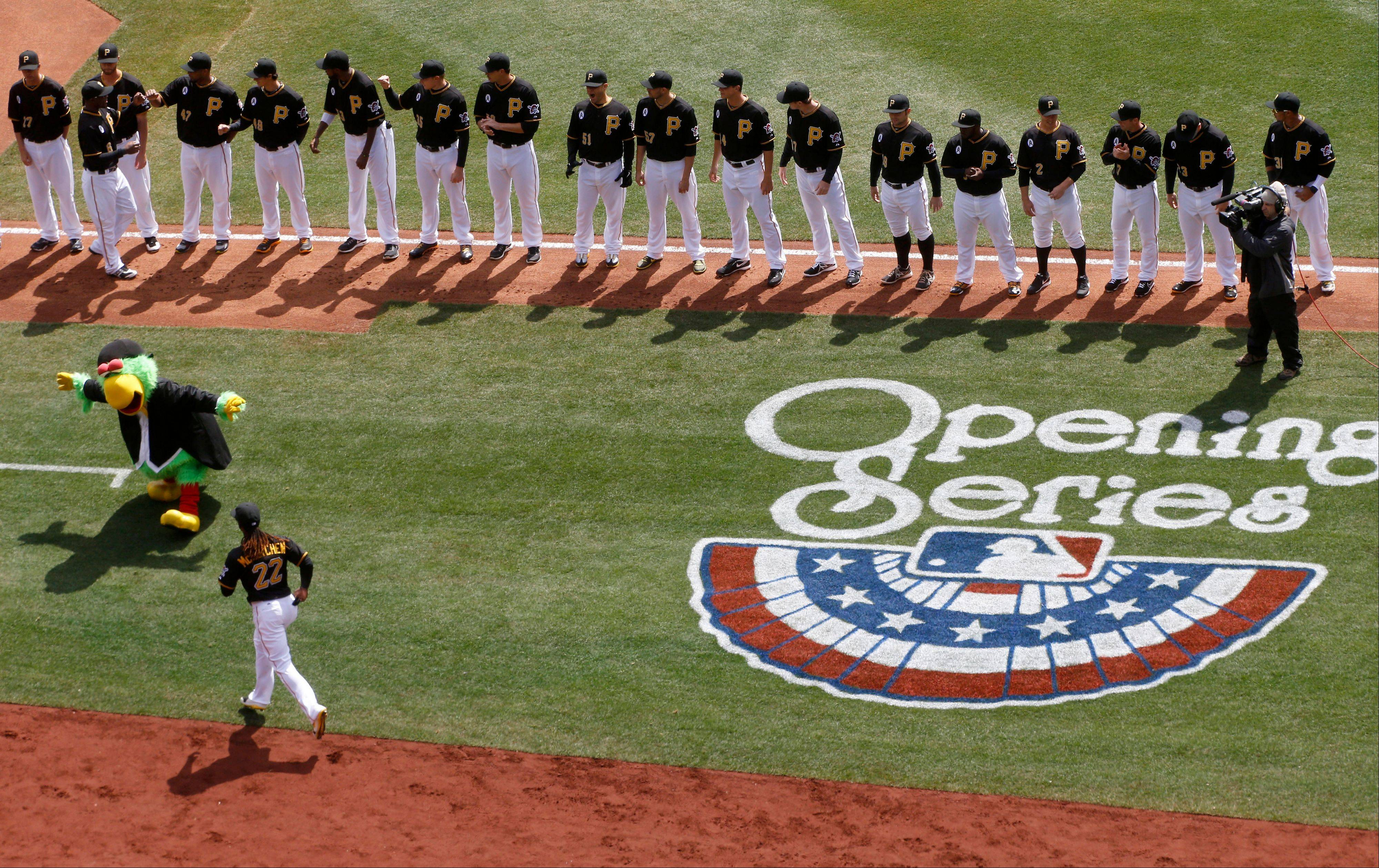 Images: Cubs vs. Pirates Opening Day