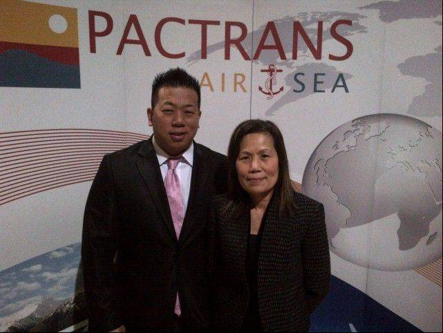 Chance Pon, left, and mother Kitty Pon, owner of Pactrans in Addison