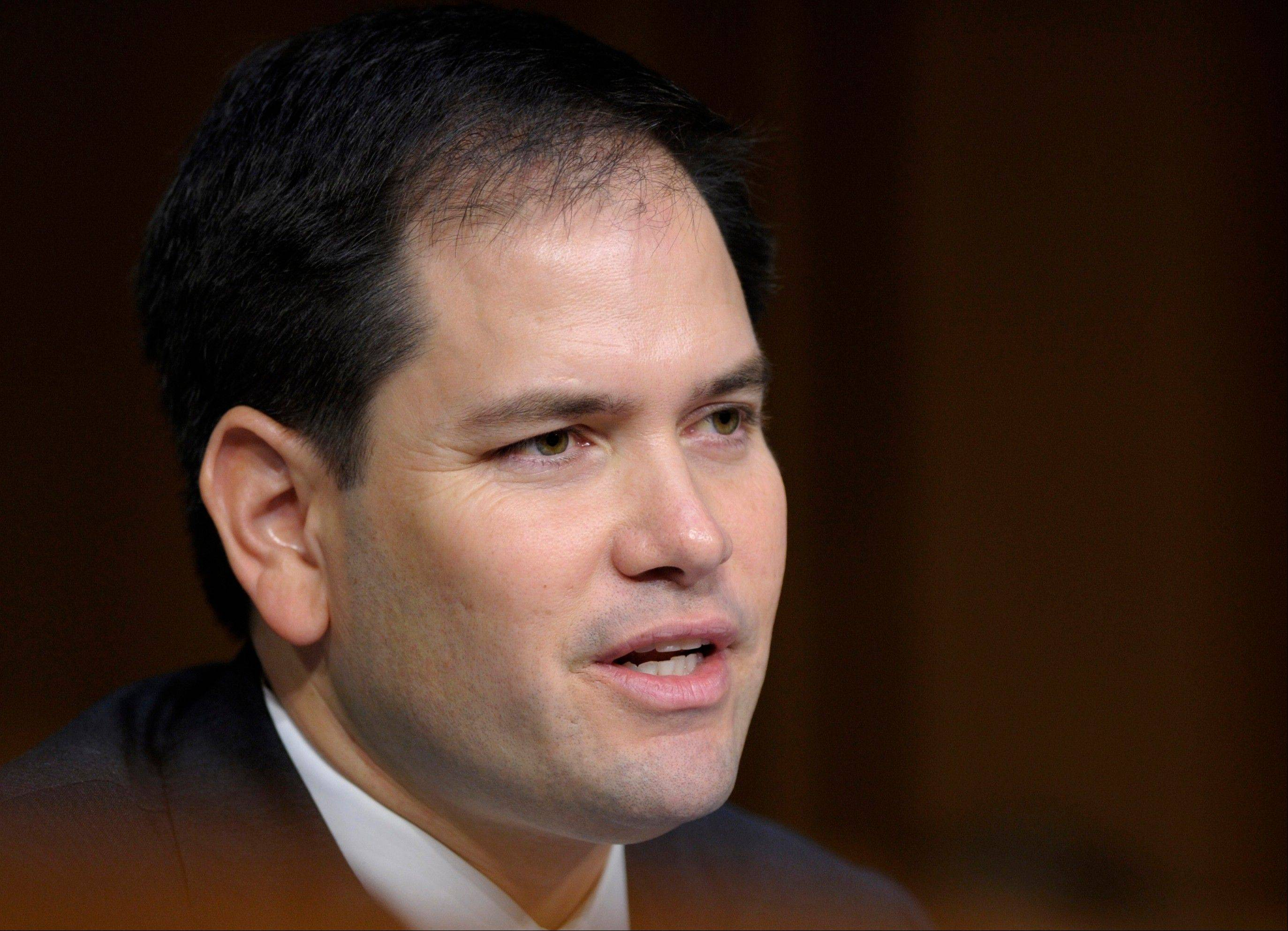 Sen. Marco Rubio, a Florida Republican, has warned he was not ready to lend his name -- and political clout -- to an immigration deal without hashing out all the details.