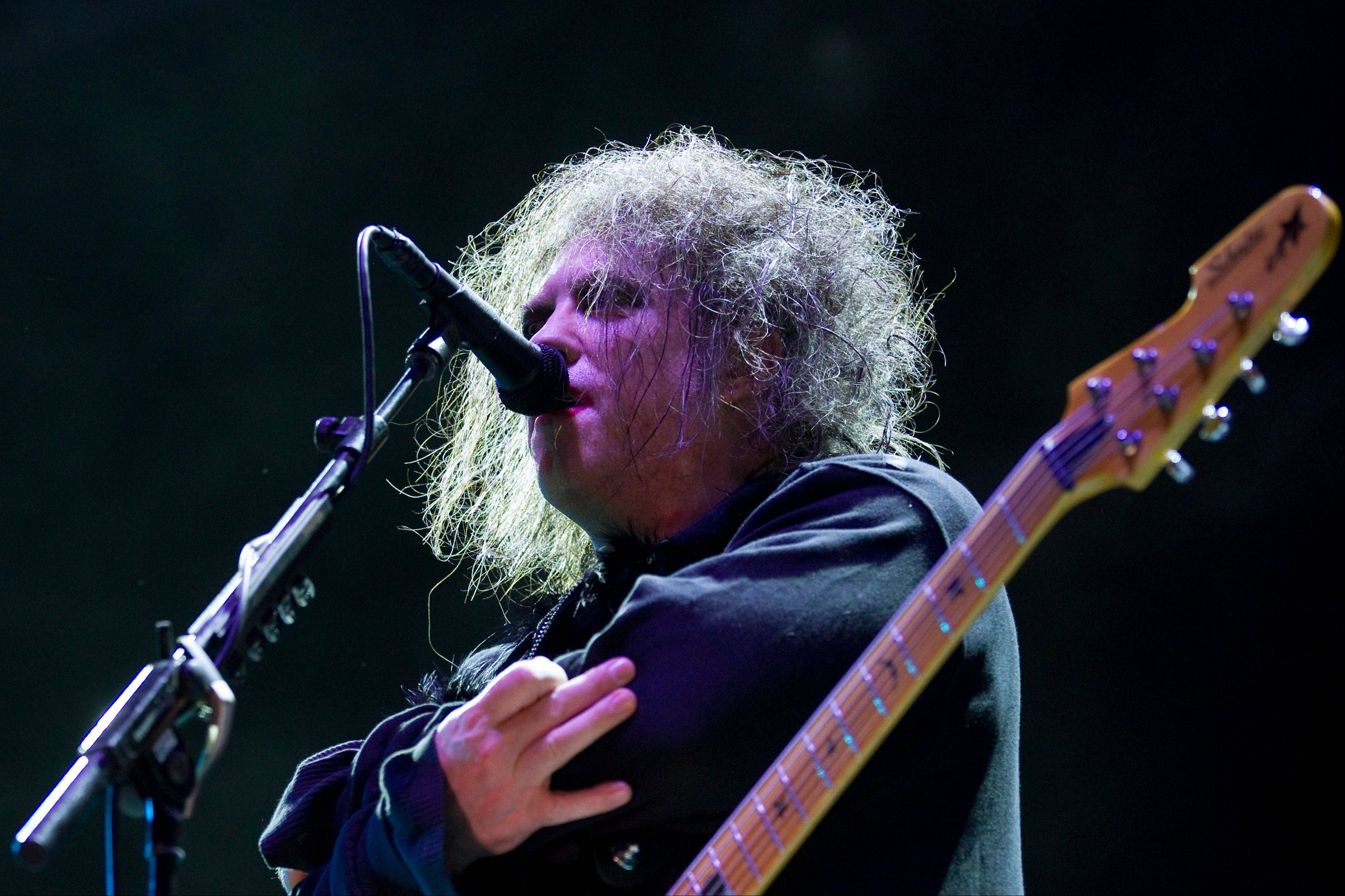 Robert Smith, frontman of English rock band The Cure, performs during a music festival in Lisbon, Portugal. The Cure will headline the Lollapalooza music festival in Chicago's Grant Park in August for the first time in the festival's more than 20-year history.