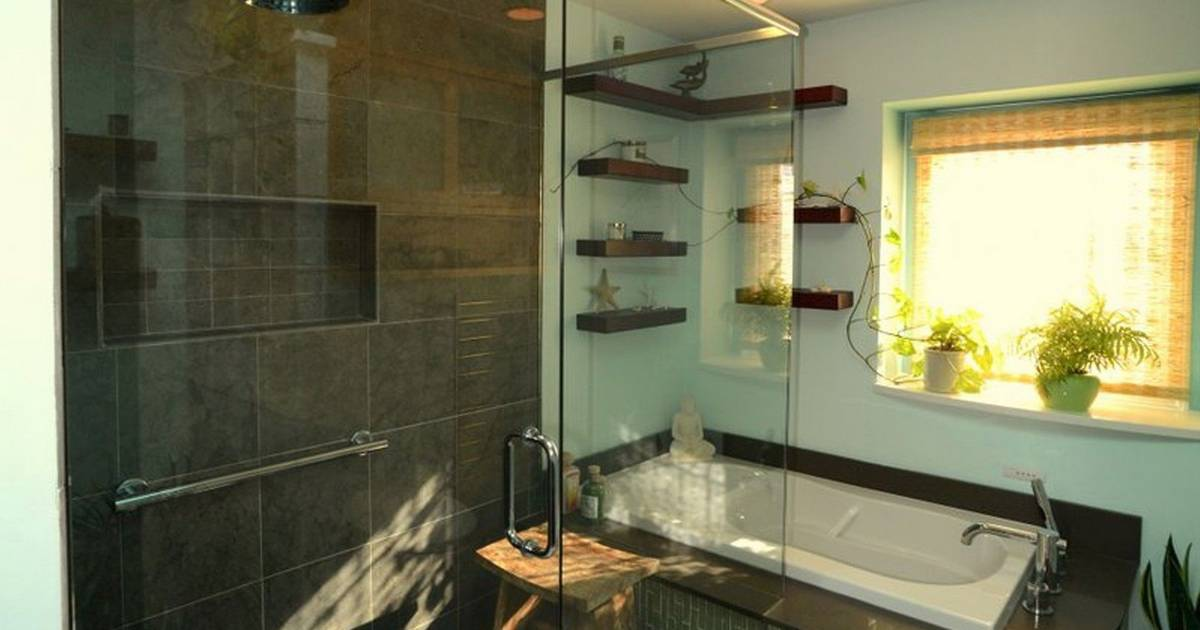 Couples Opt For Calming Asian Inspired Designs For Master Bath
