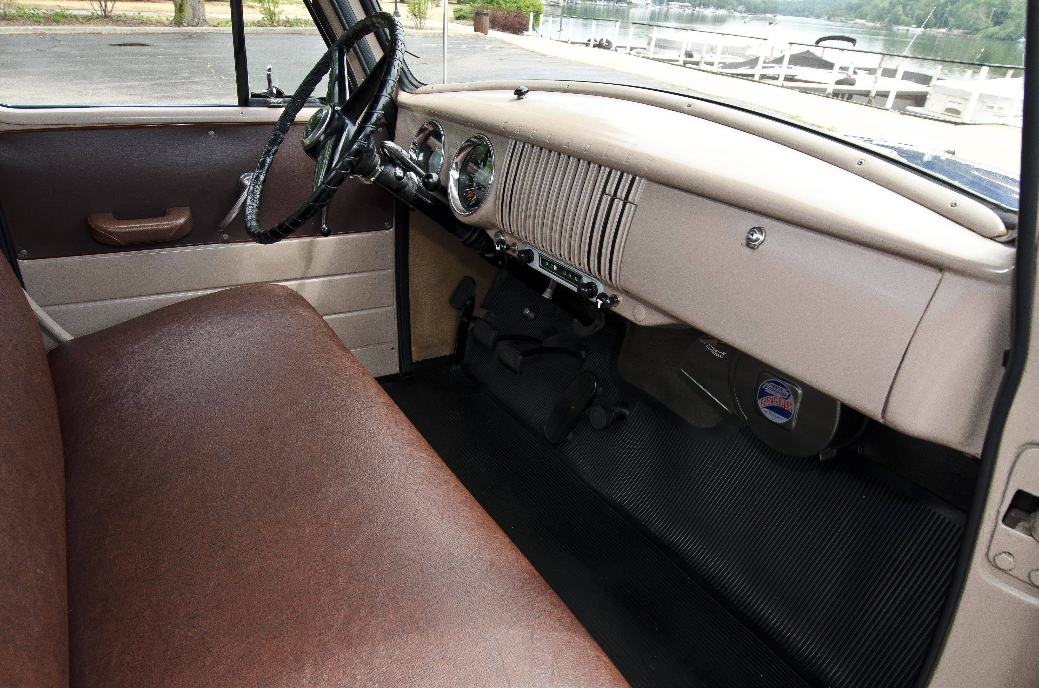 The 1954 cab is often filled with music from later decades.