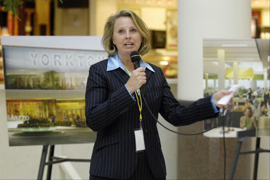 Donna Blair, vice president of Yorktown Shopping Center in Lombard, talks about planned renovations that will begin Tuesday and continue through this year and much of 2014.