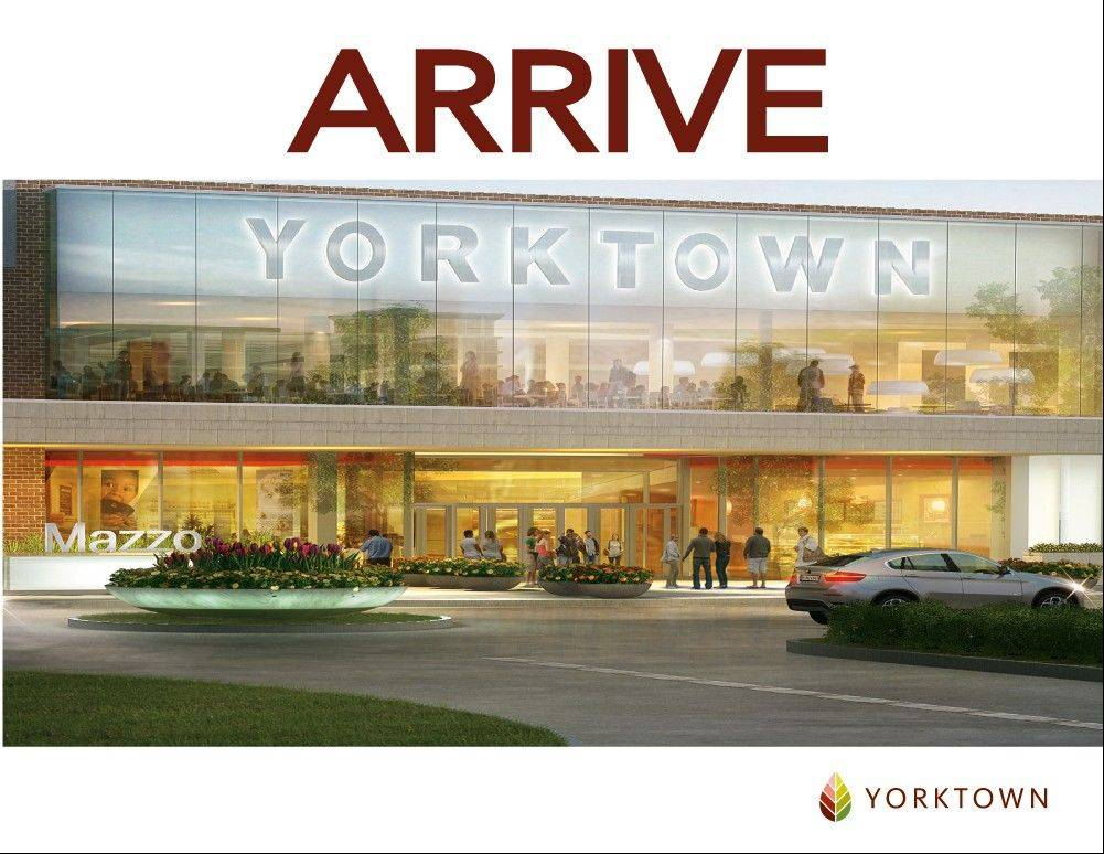 Yorktown Center in Lombard will get a new look both outside and inside as part of an $18 million renovation project that begins Tuesday and is expected to continue through much of 2014.