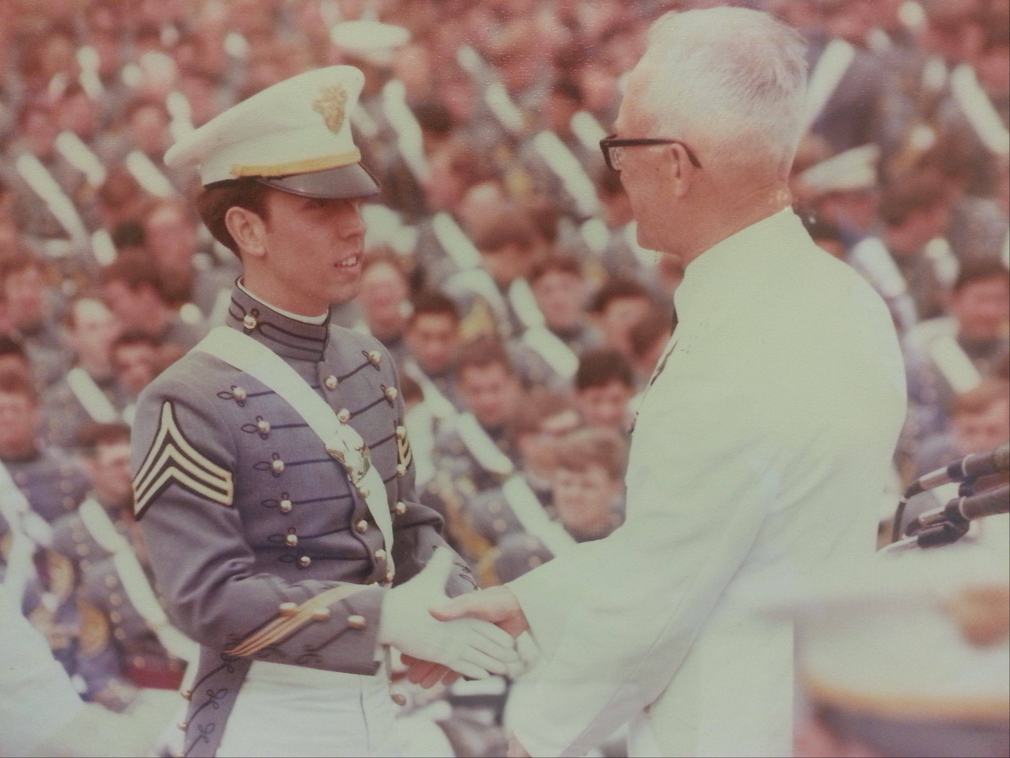 Tom Hayes graduates from West Point Military Academy in 1978.