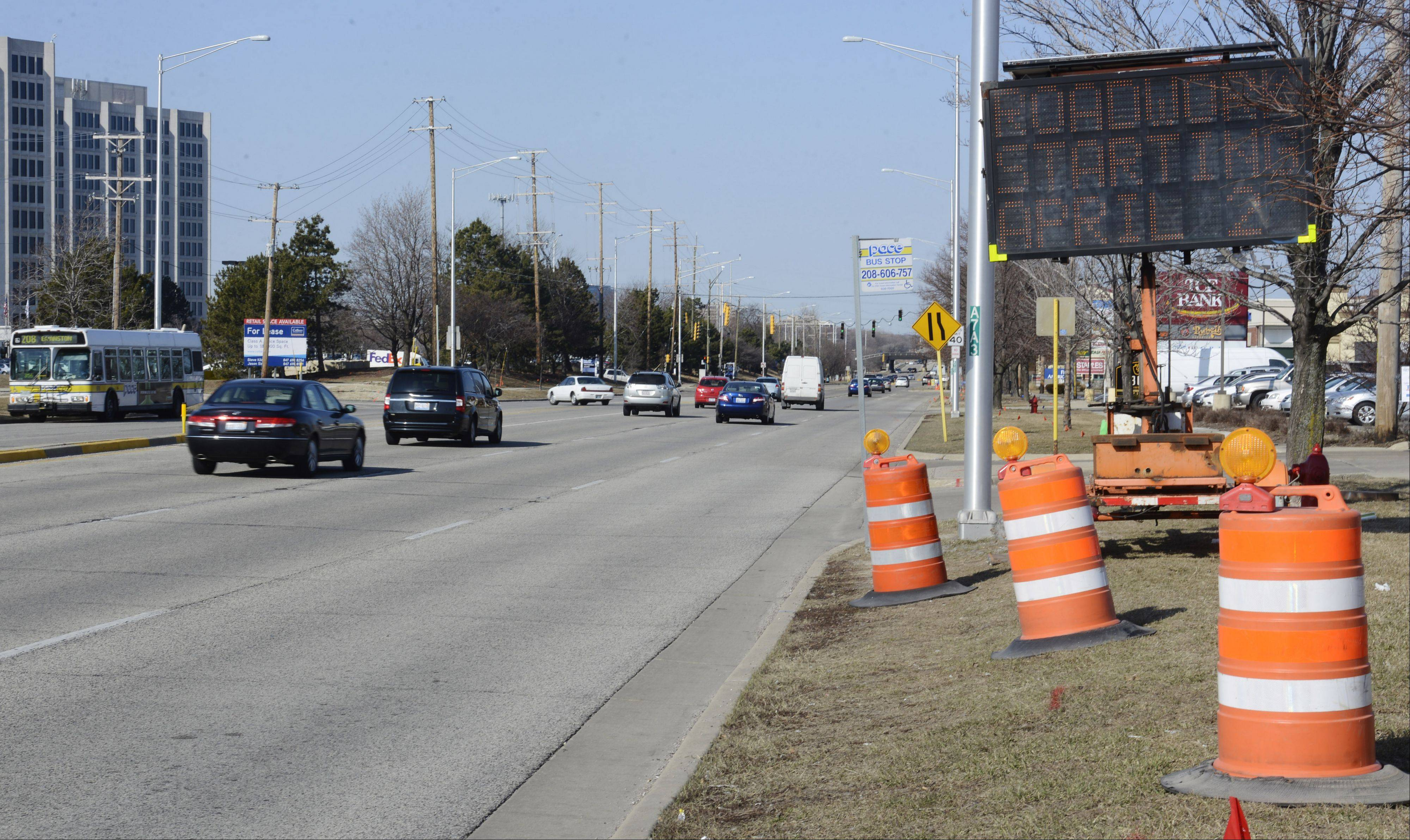 Road construction will begin this week in the area of Golf and New Wilke roads in Rolling Meadows. The work, expected to be mostly complete in November or December, will expand Golf to three lanes between Algonquin Road and the Jane Addams Tollway overpass.