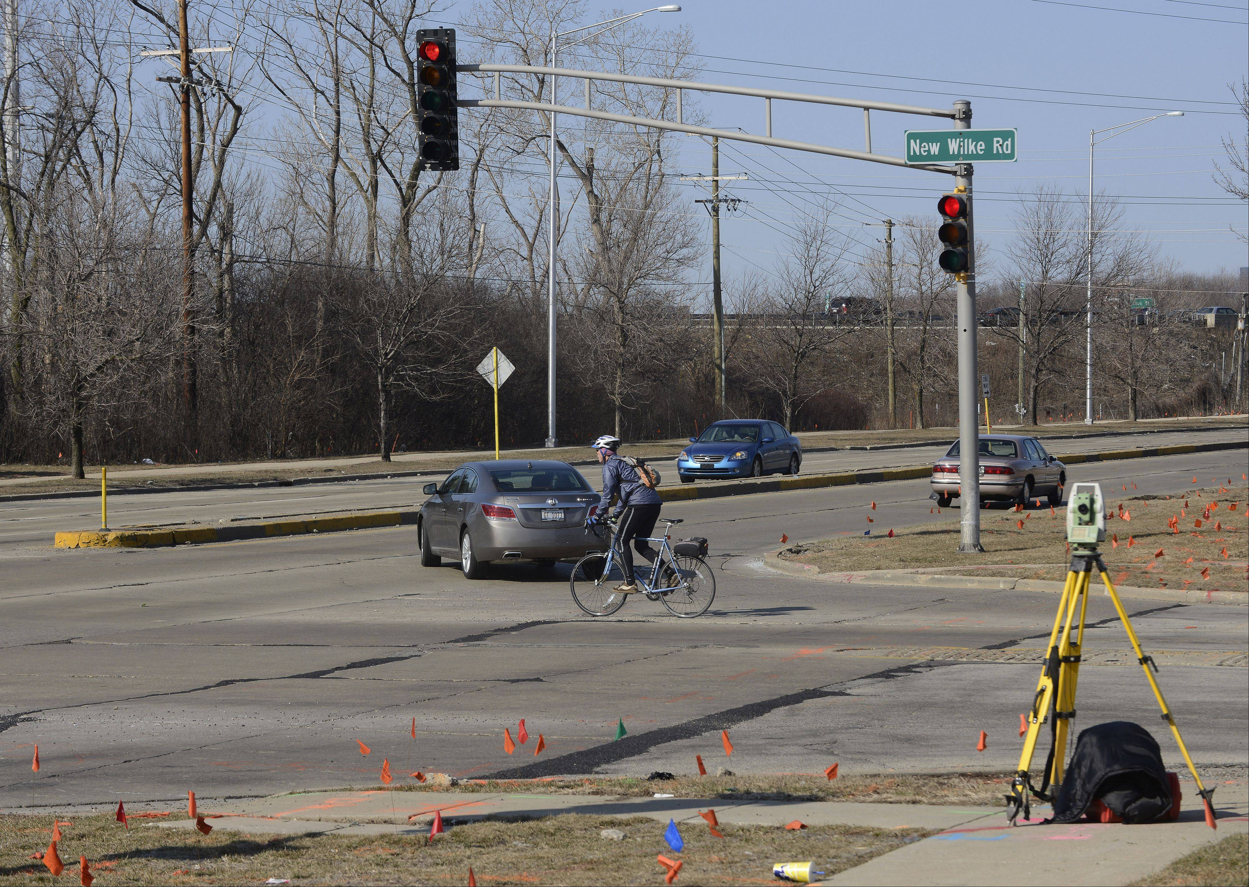 Road construction will begin this week in the area of Golf and New Wilke roads in Rolling Meadows. The project is estimated to cost $8.1 million.