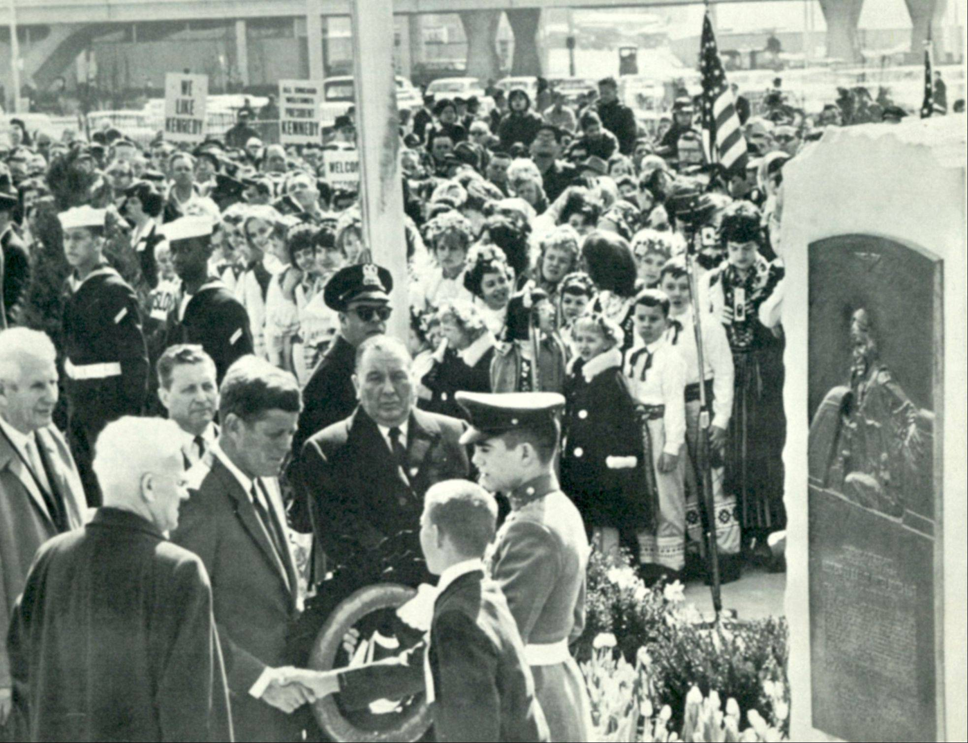 President John F. Kennedy formally dedicates what we now know as O'Hare International Airport in 1963.