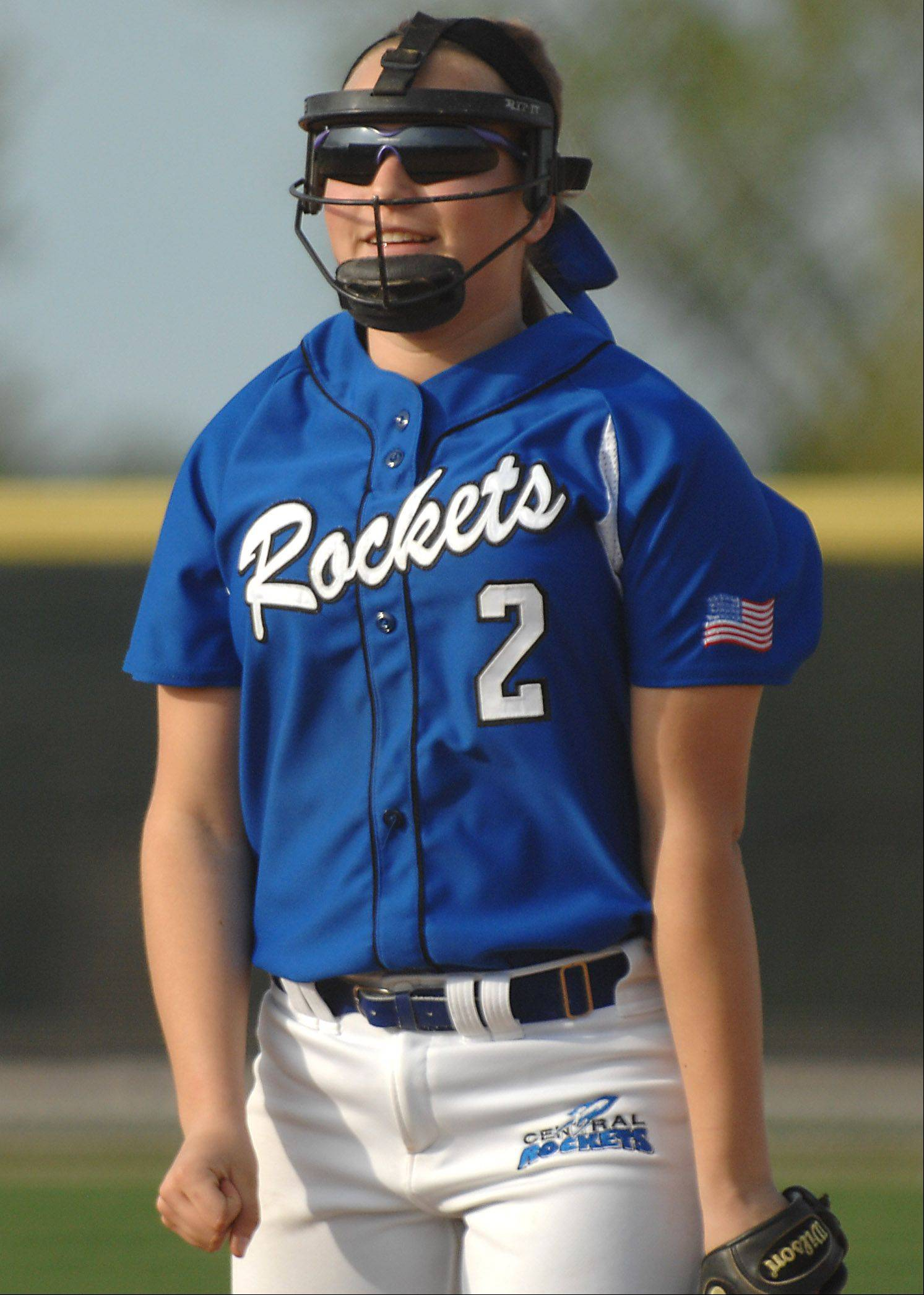 Burlington Central sophomore pitcher Angie Morrow will miss the 2013 high school softball season after undergoing shoulder surgery. Morrow, who has verbally committed to Wisconsin, was 15-4 for the Rockets last season.