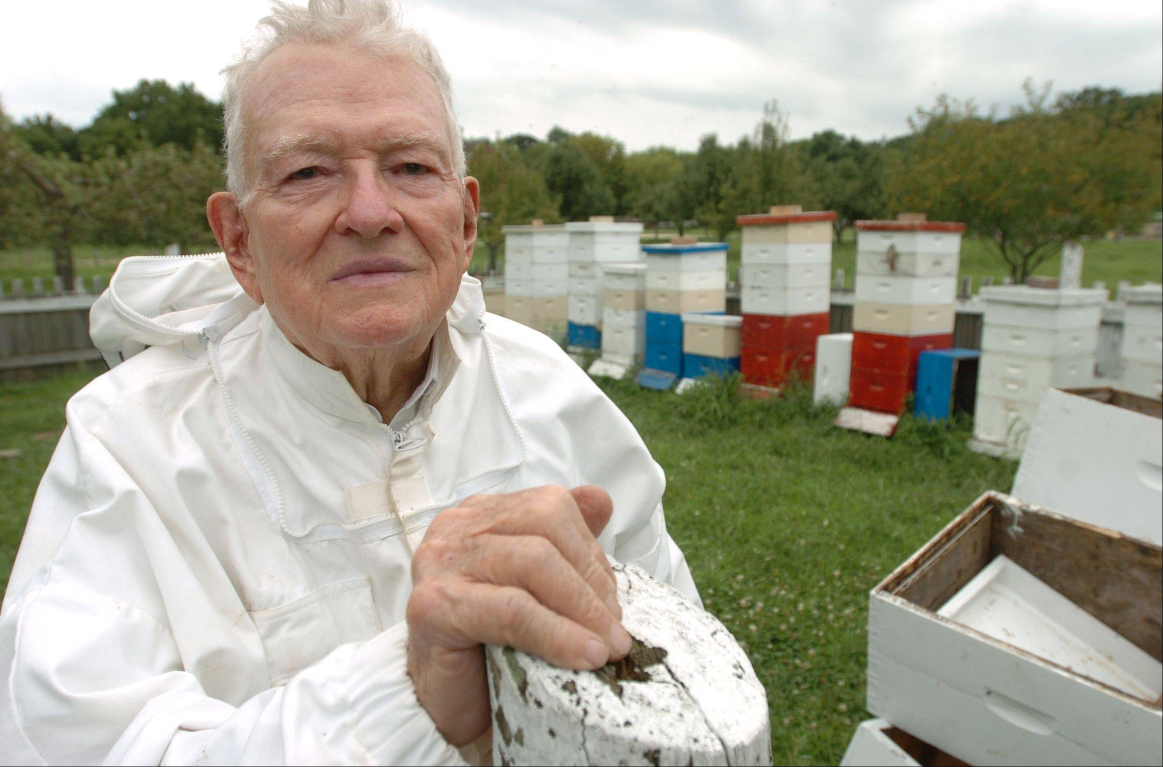 Lawrence DuBose, a longtime volunteer beekeeper at Kline Creek Farm, has donated $25,000 to the Carol Stream Public Library just months after donating the same amount to the Wheaton Public Library.