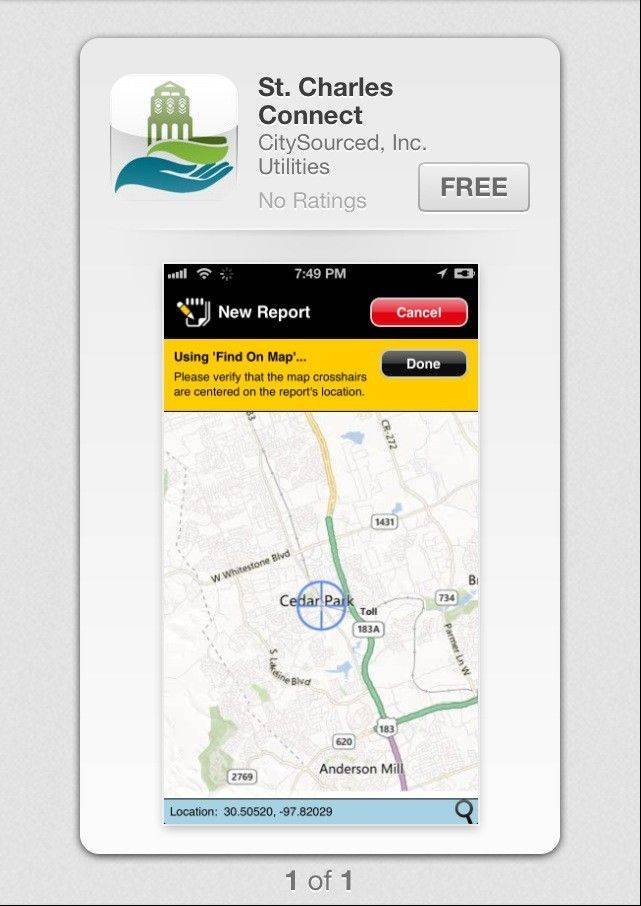 St. Charles Connect allows city residents to link to city services from their phones through a free phone application.