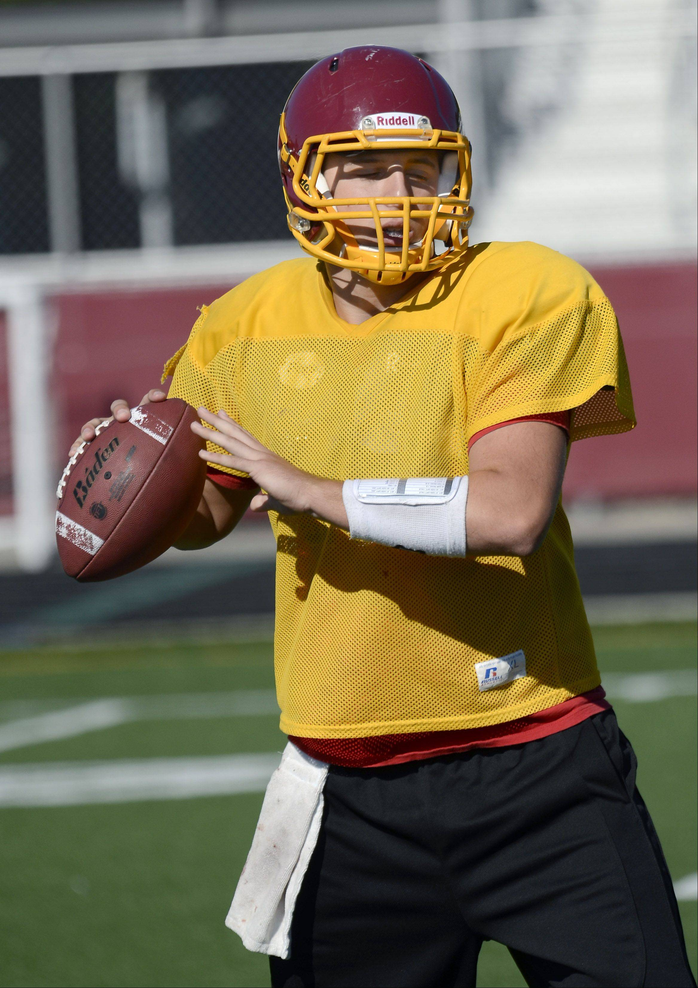 Schaumburg quarterback Nick Anzelmo will continue his football career and education at Carthage College in Kenosha.